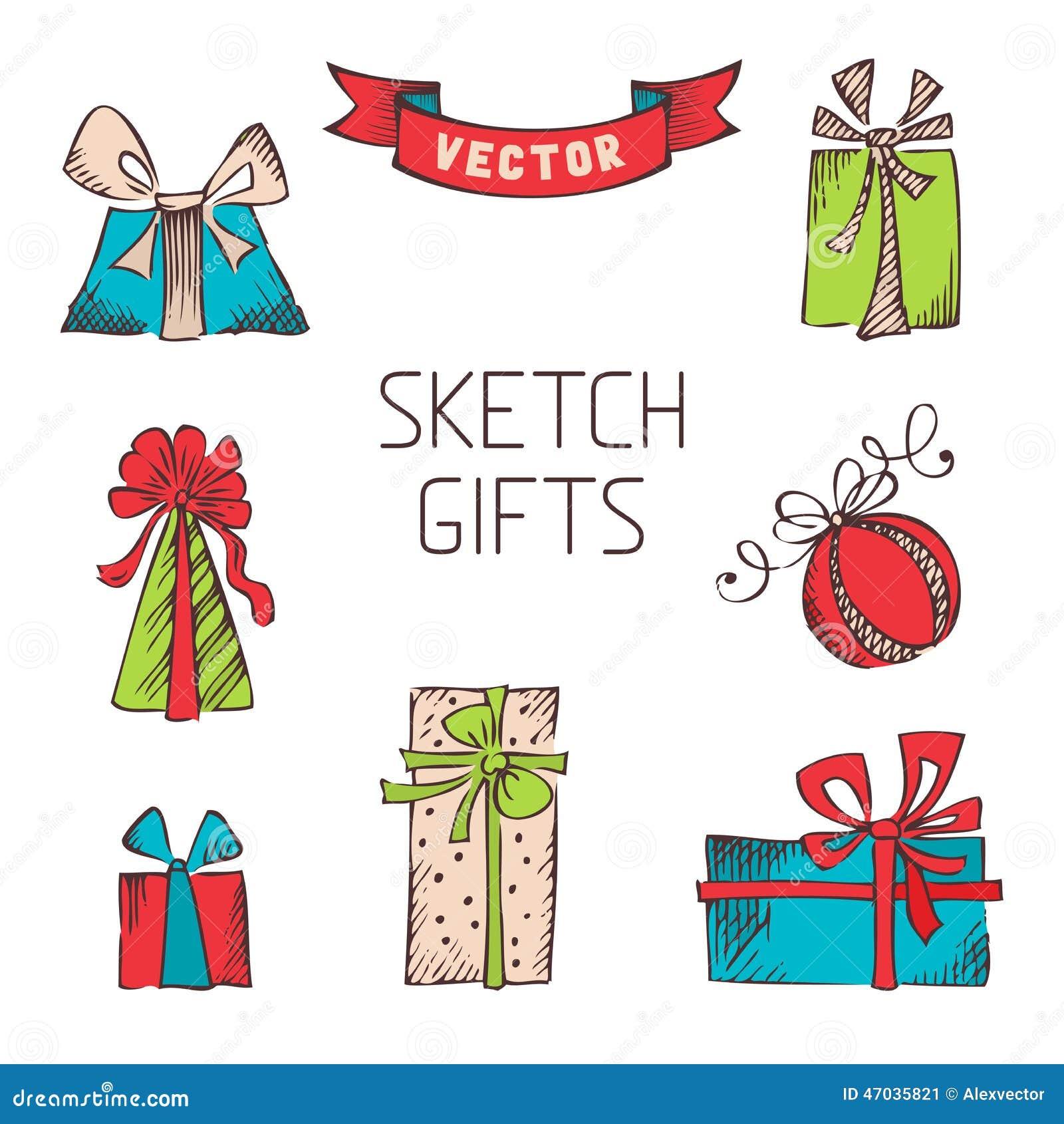Картинки подарки нарисованные