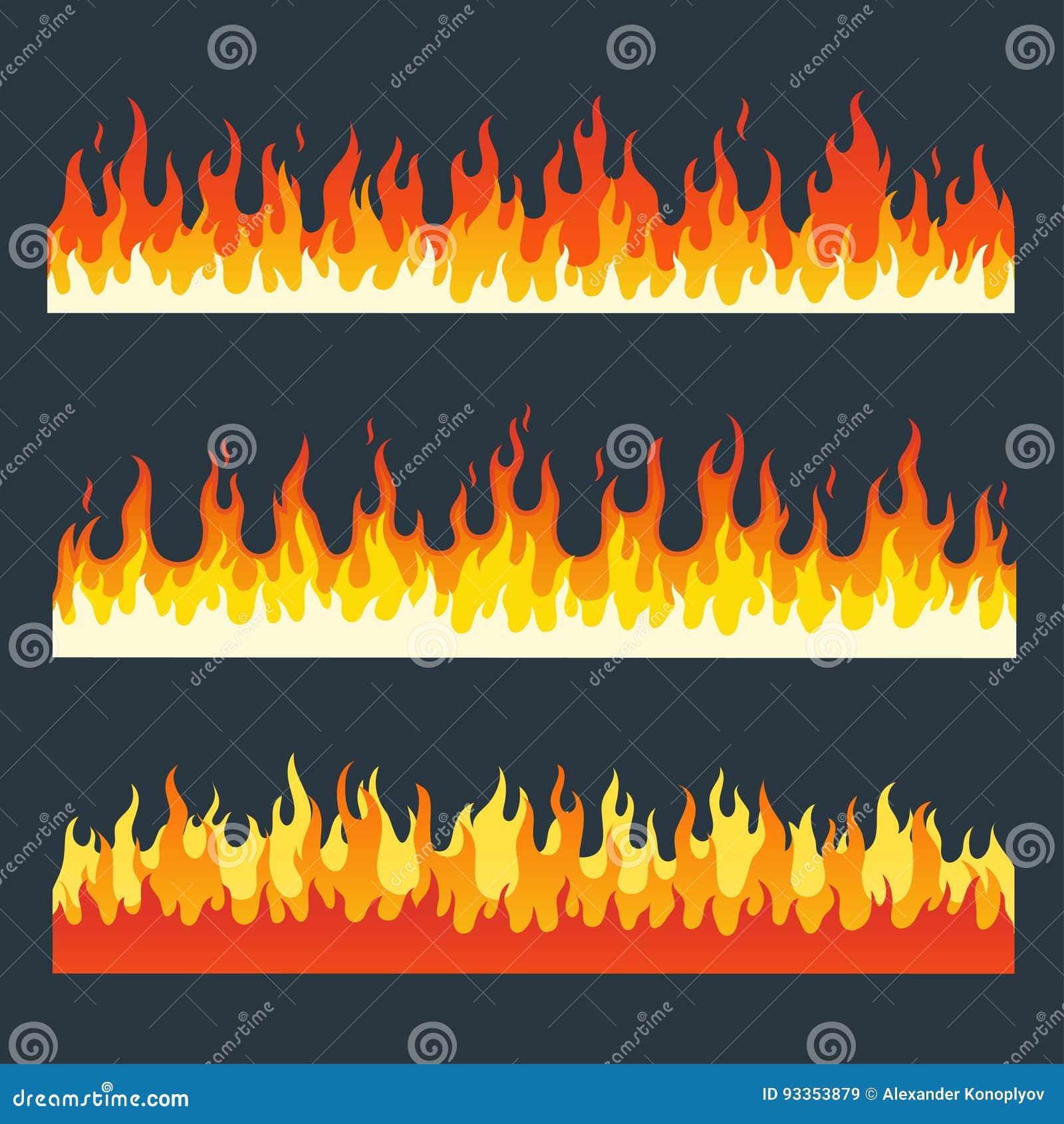 Комплект вектора пламен огня