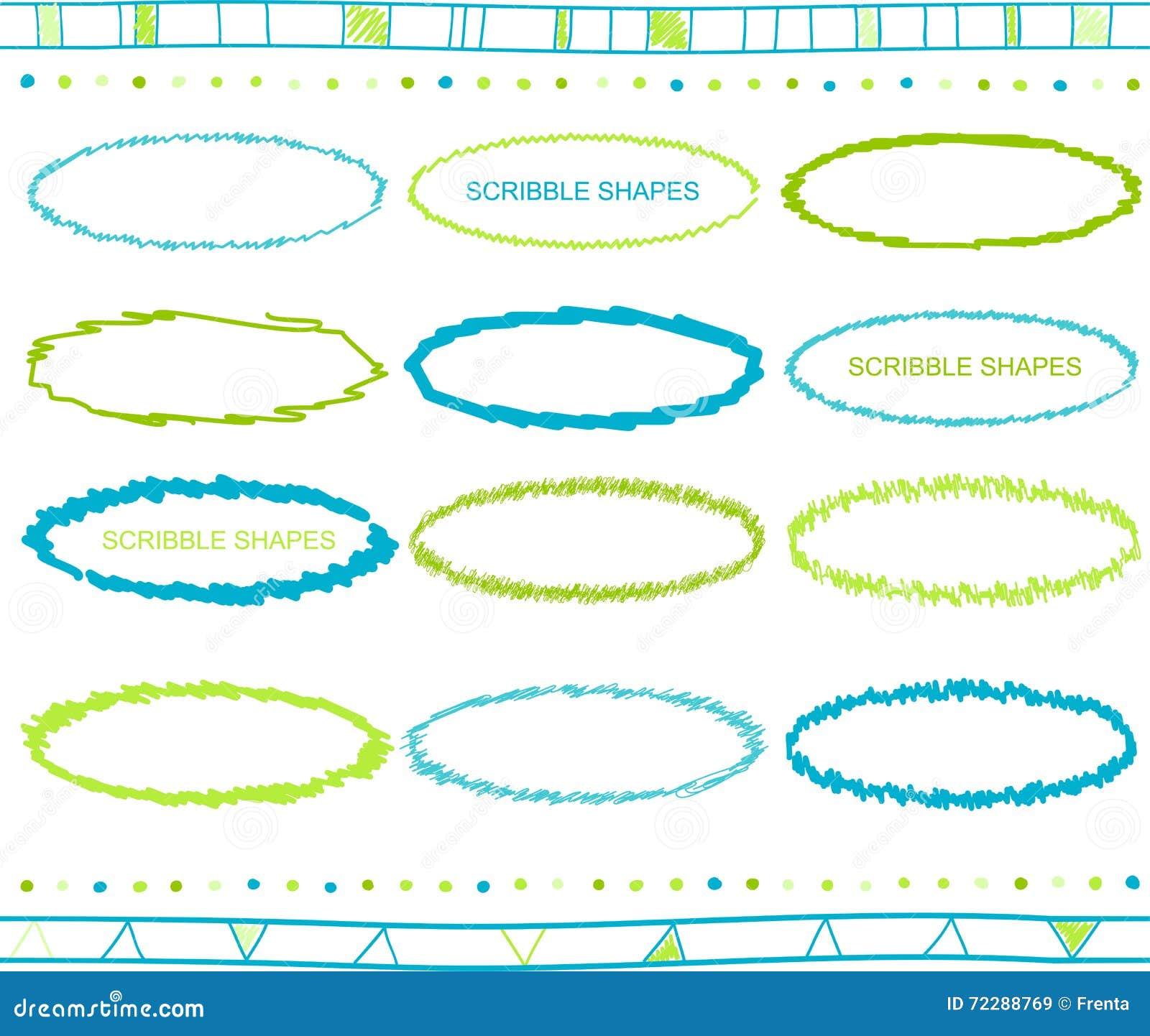 Download Комплект вектора элементов Scribble Иллюстрация вектора - иллюстрации насчитывающей покрашено, ретро: 72288769