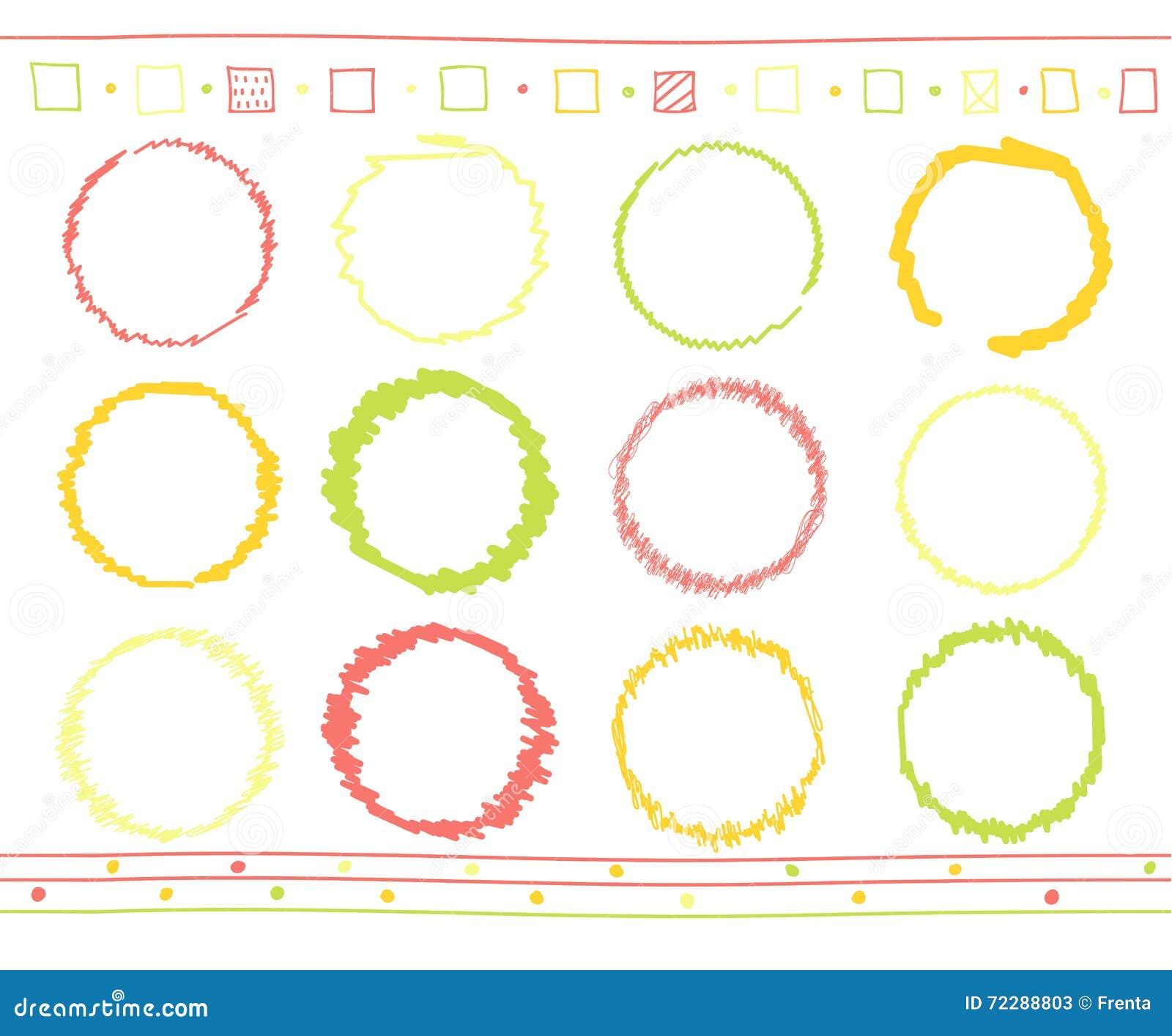 Download Комплект вектора элементов Scribble Иллюстрация вектора - иллюстрации насчитывающей влияние, элемент: 72288803