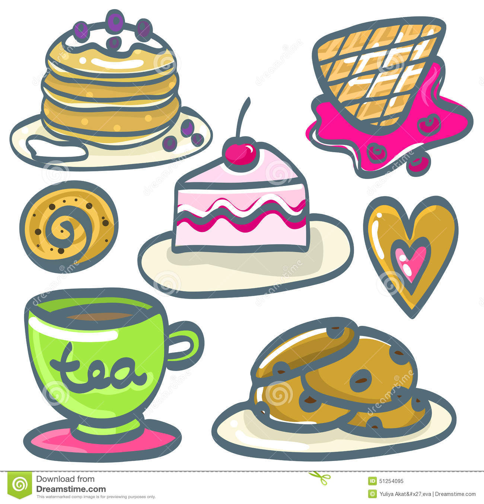 картинки нарисованных десертов