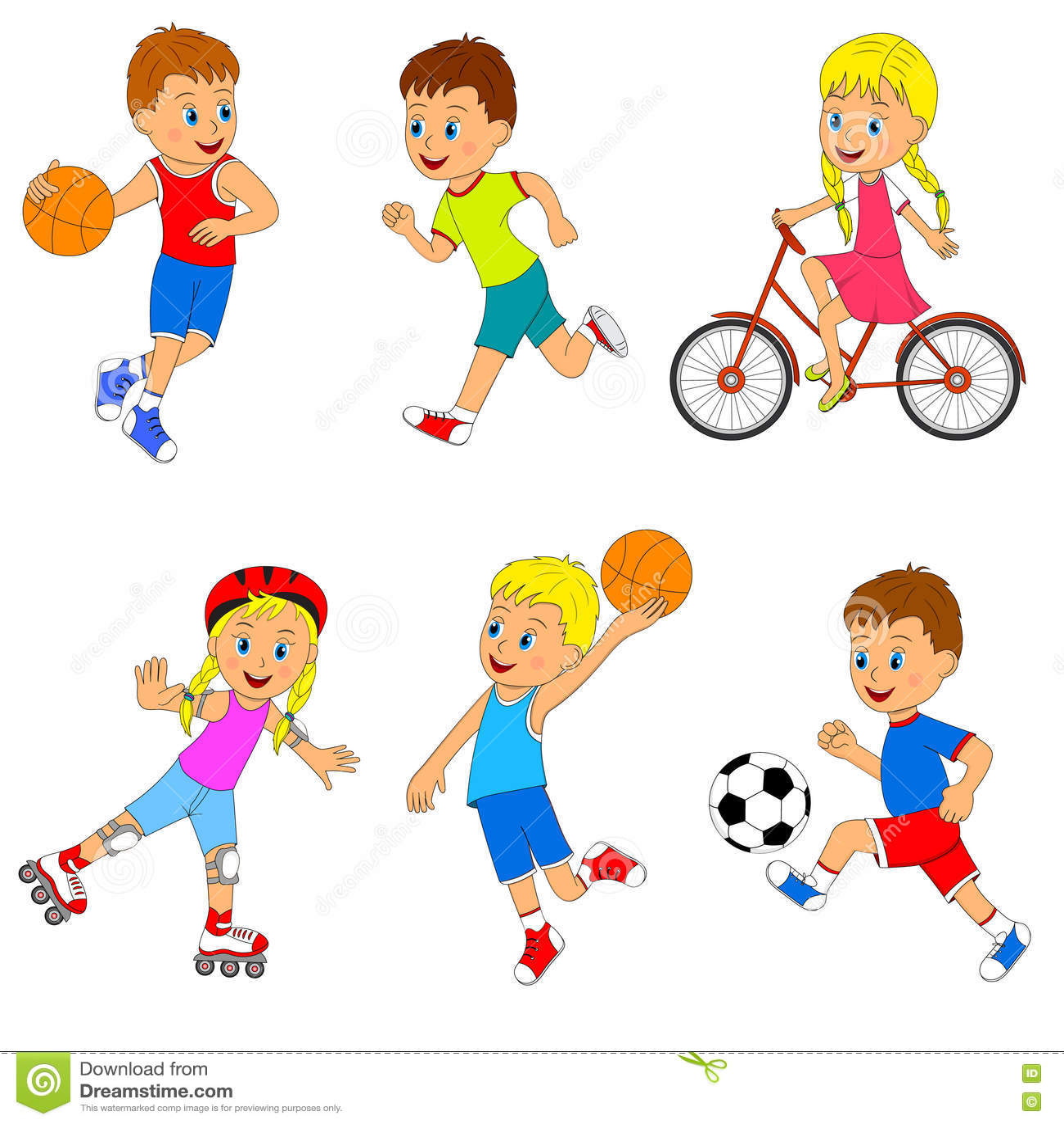 дети спорт картинки