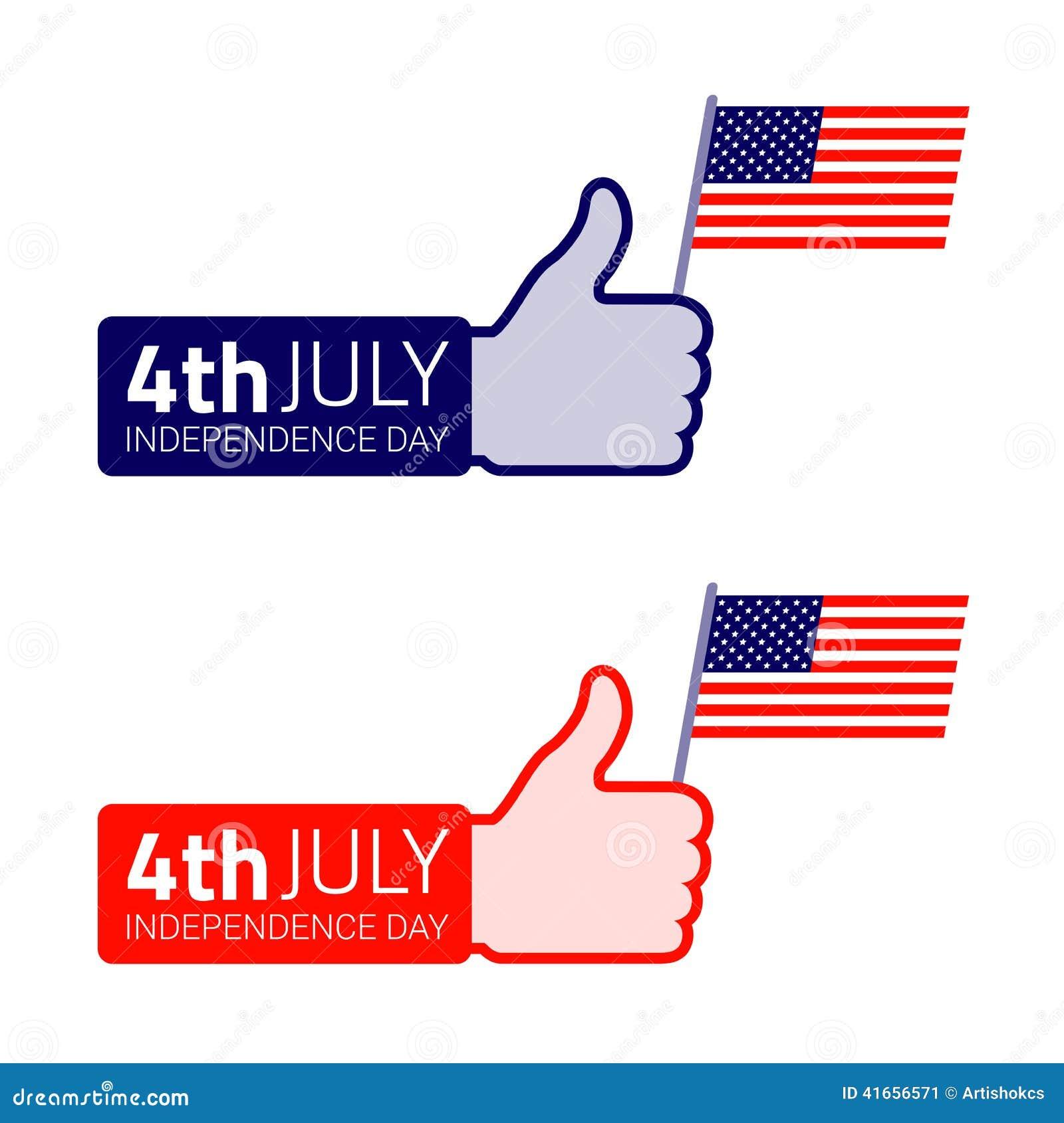 Комплект значка американского флага владением большого пальца руки поднимающего вверх