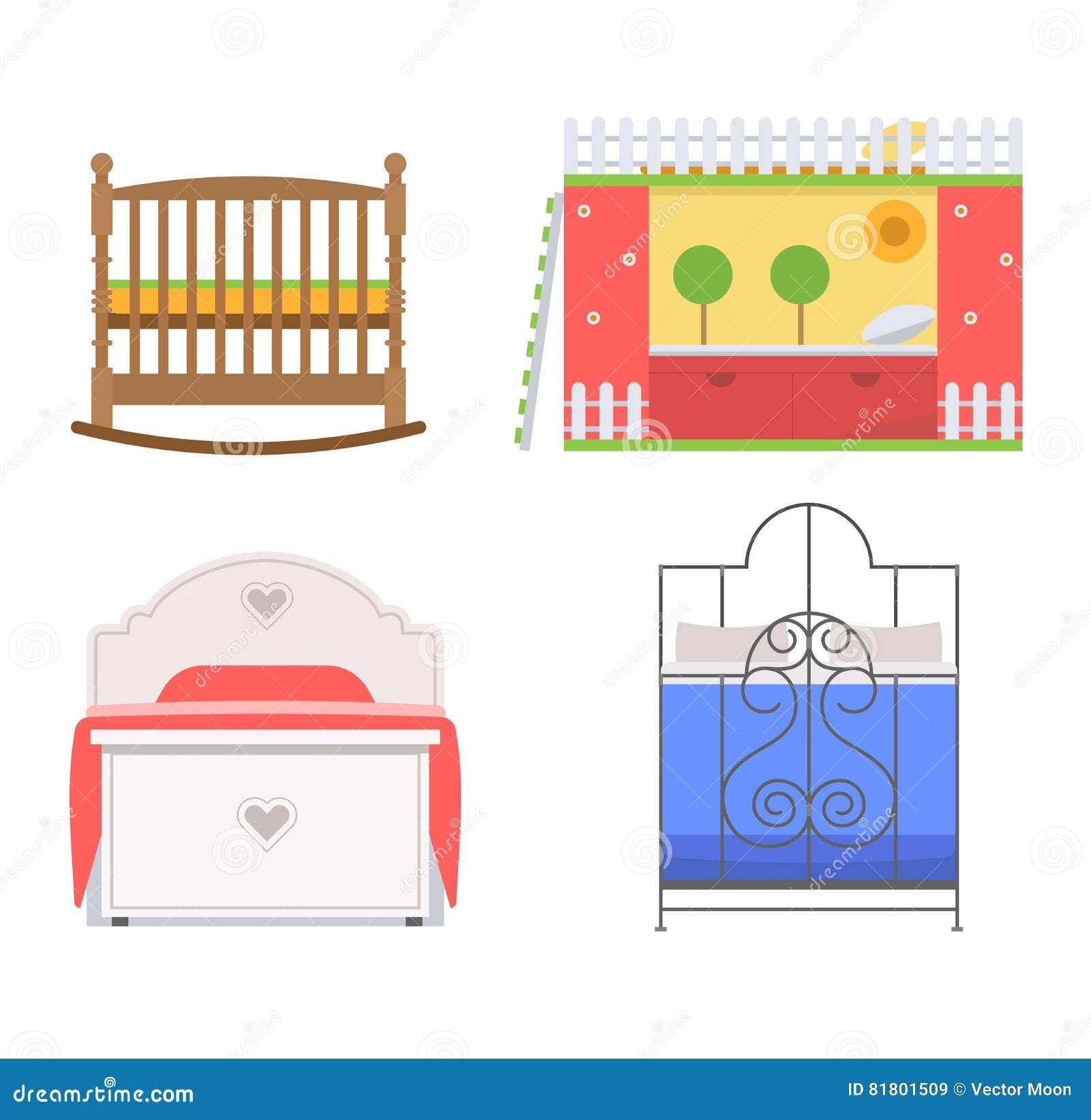 Комплект значка кровати вектора