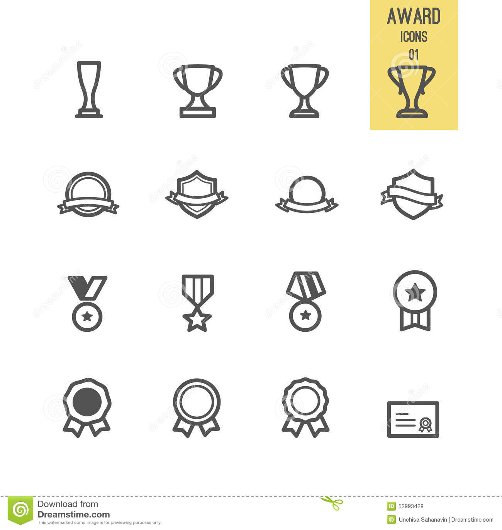 Комплект значка награды