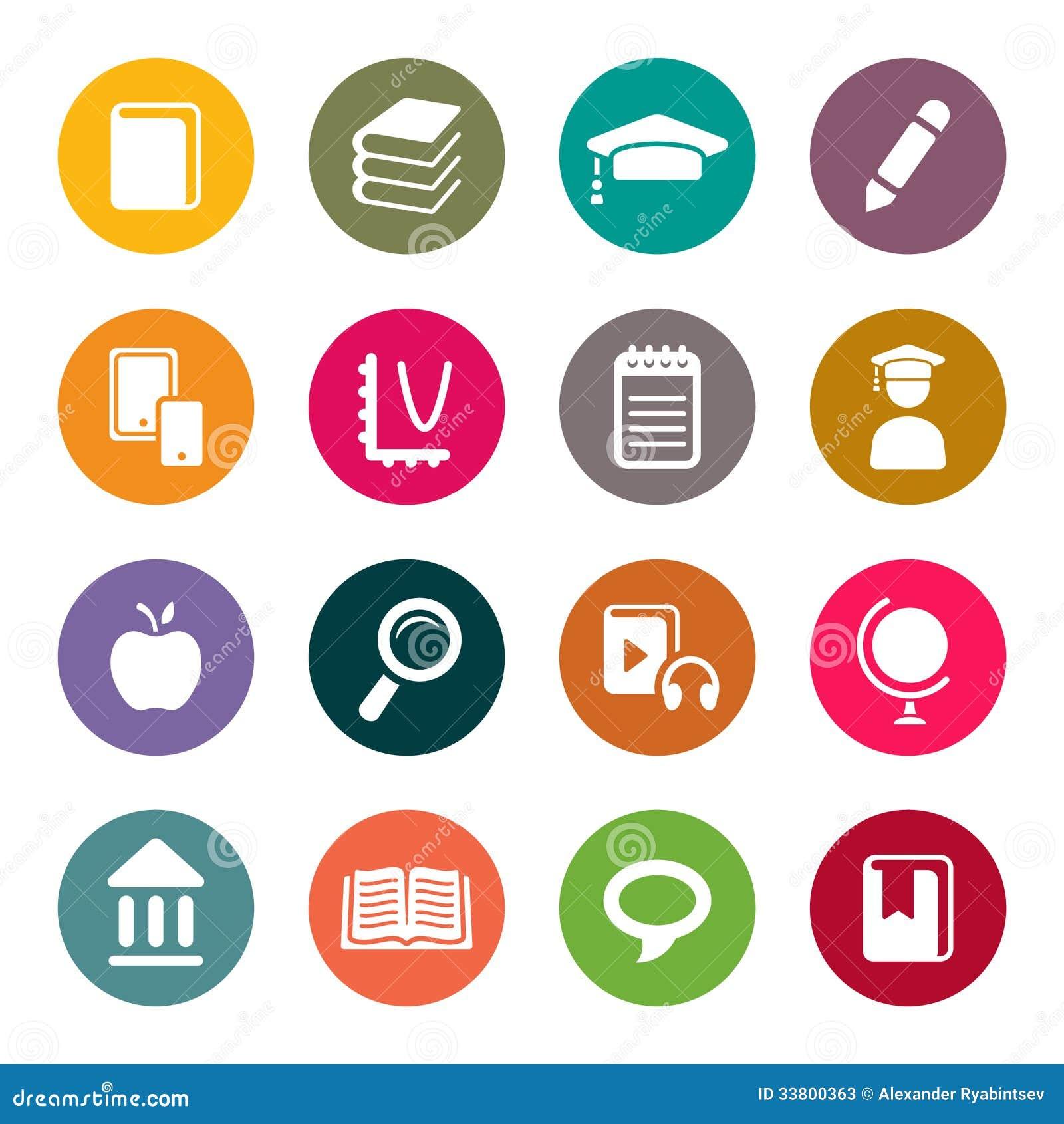 Комплект значка темы образования