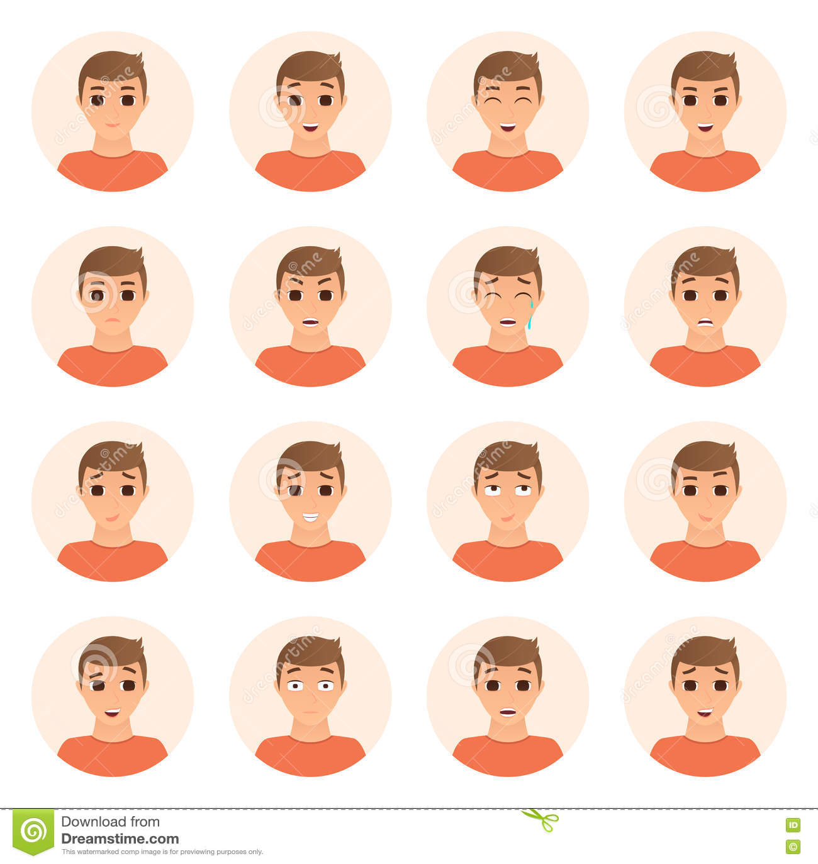 Download Комплект значков эмоций мальчика Иллюстрация вектора - иллюстрации насчитывающей дело, красиво: 72294353