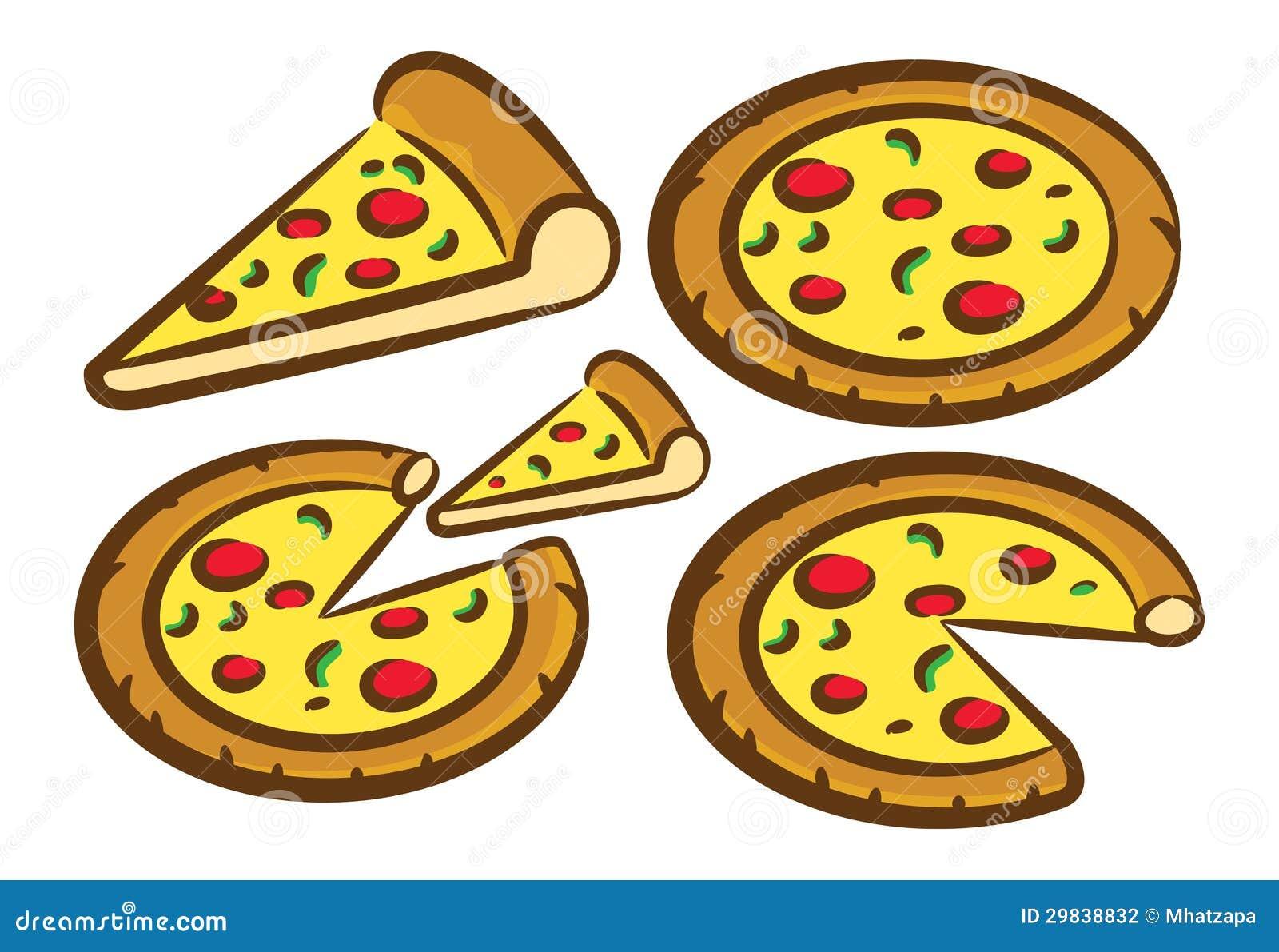 Комплект иконы пиццы