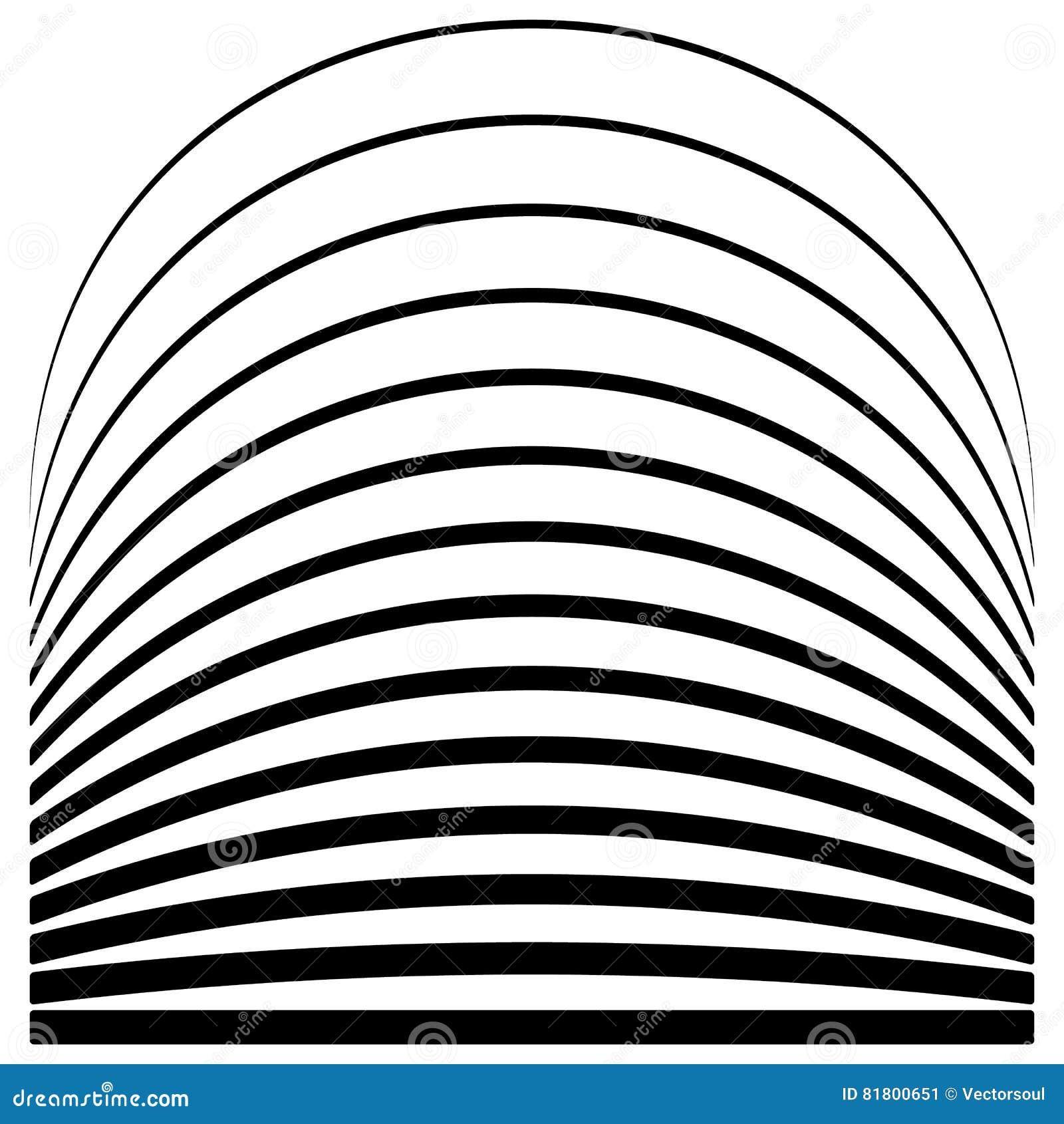 Комплект линий с различным уровнем деформации Абстрактное geome
