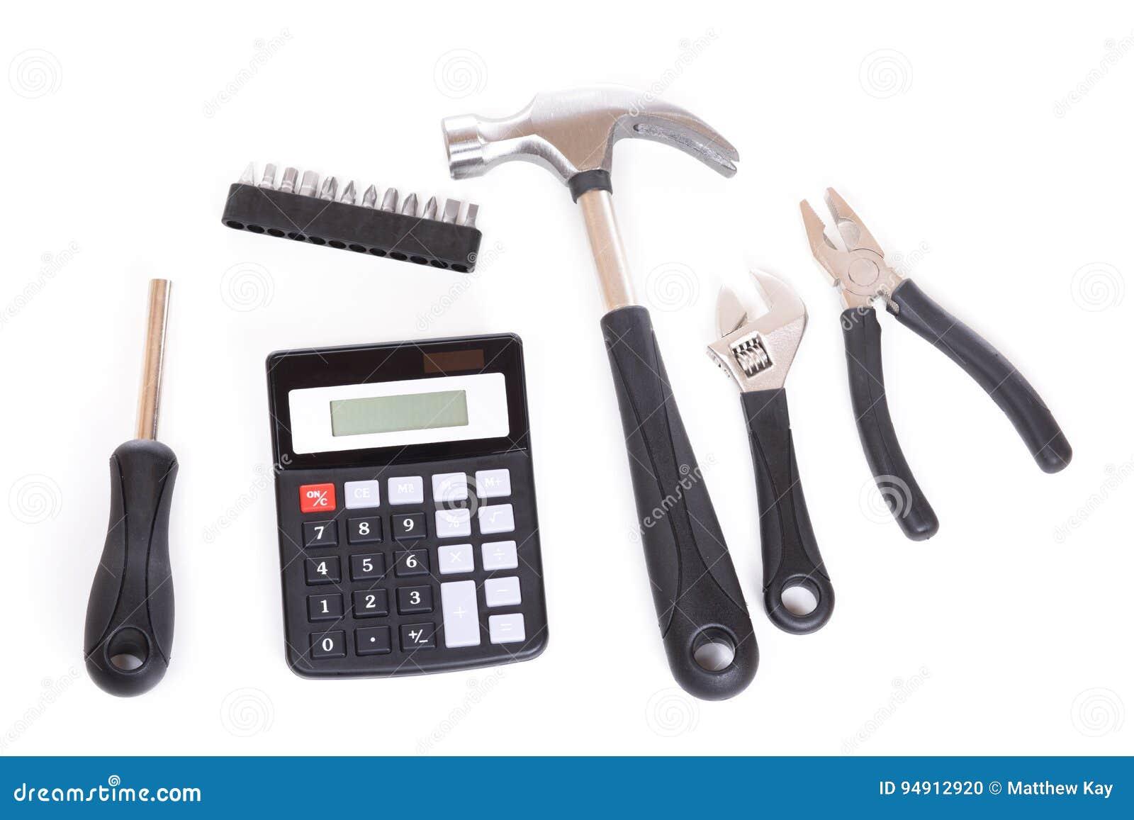 Комплект инструментов и калькулятора