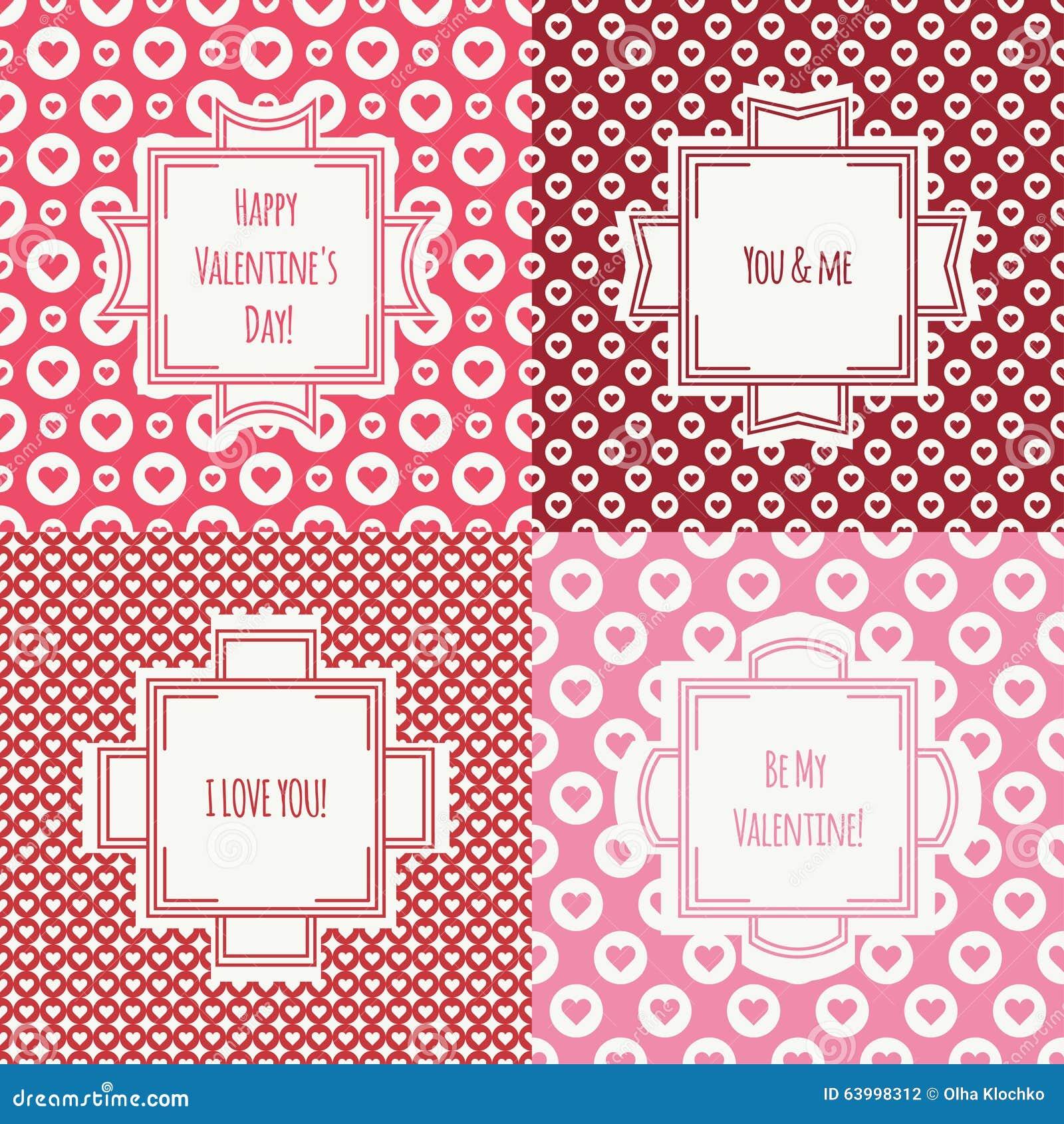 Комплект красного цвета, розовой романтичной безшовной картины с