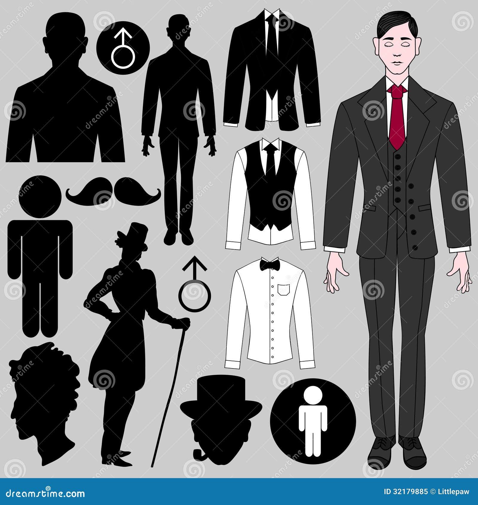 Комплект мужских символов