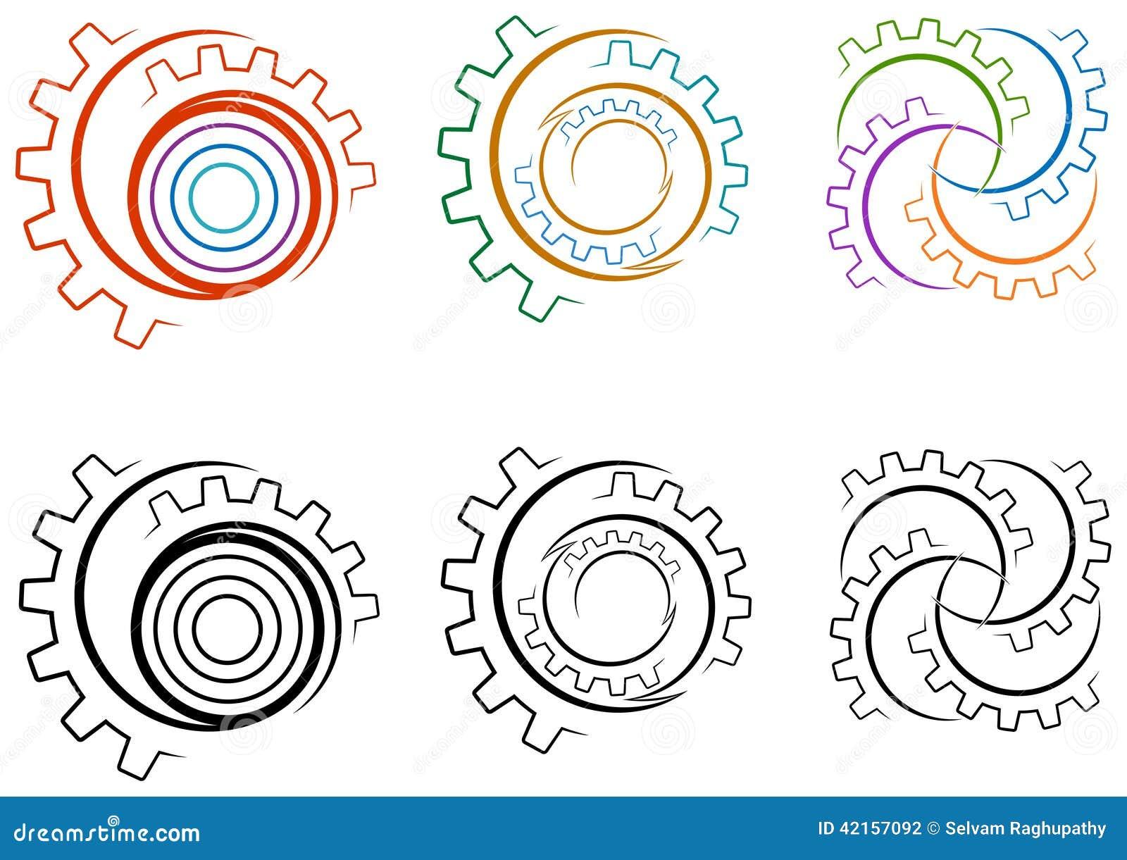 Комплект логотипа колес шестерни
