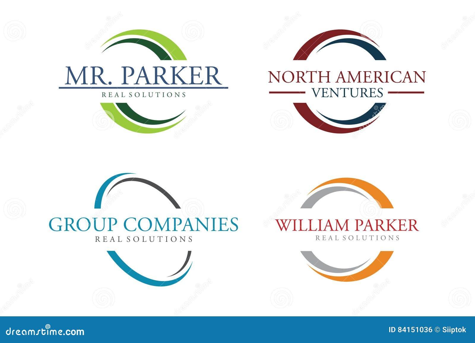 Комплект логотипа круга