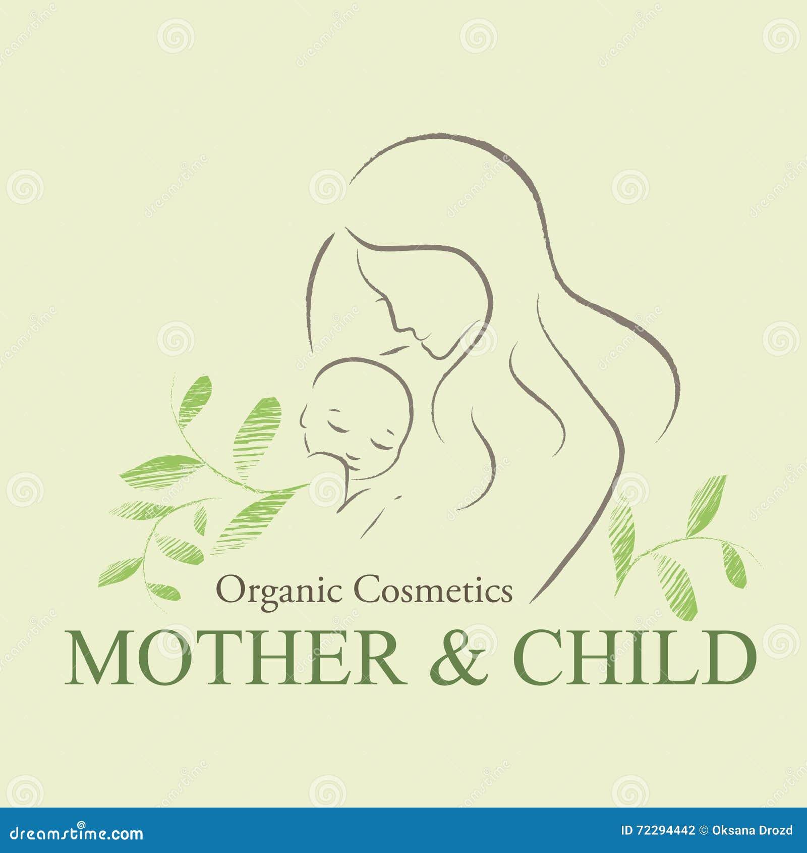 Download Комплект органических косметик конструирует элемент с оконтуренной матерью и Newborn младенцем Иллюстрация вектора - иллюстрации насчитывающей косметики, green: 72294442