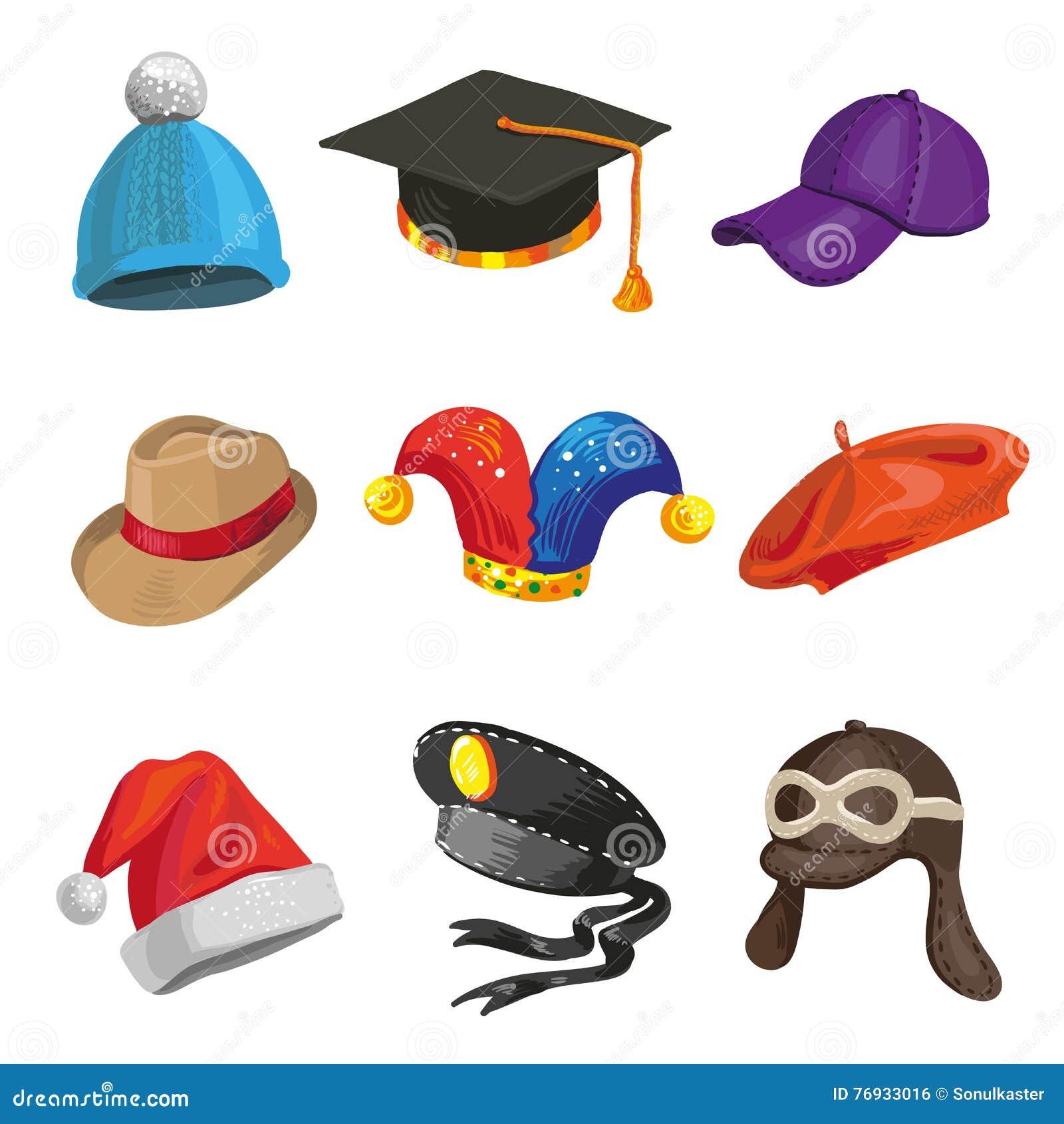Комплект полиции шаржа и шляп шутника