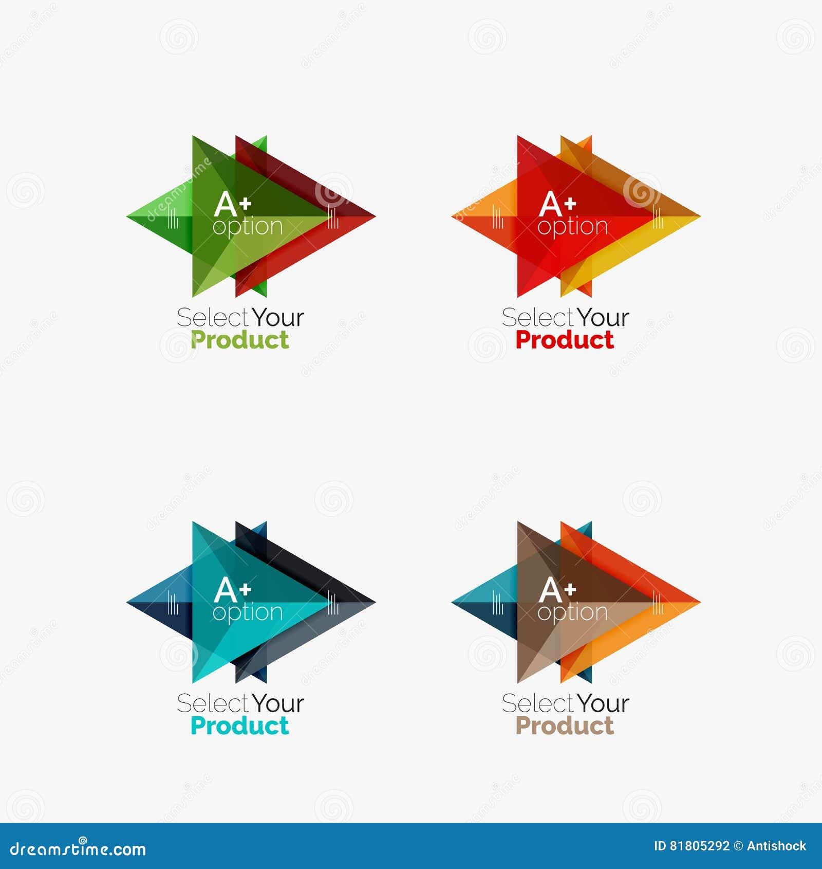 Комплект планов треугольника infographic с текстом и вариантами