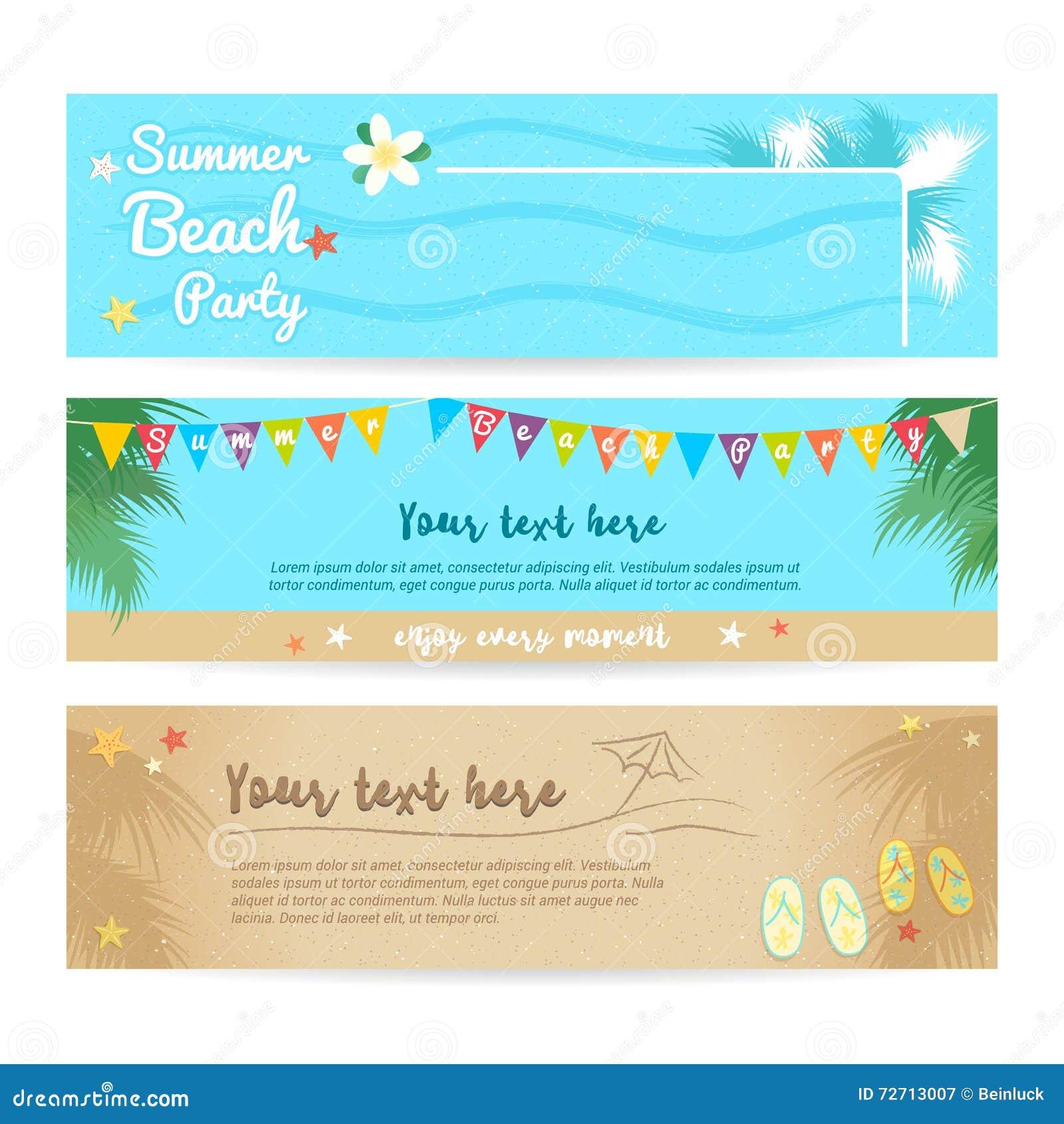 Комплект пляжа лета и предпосылки знамени моря