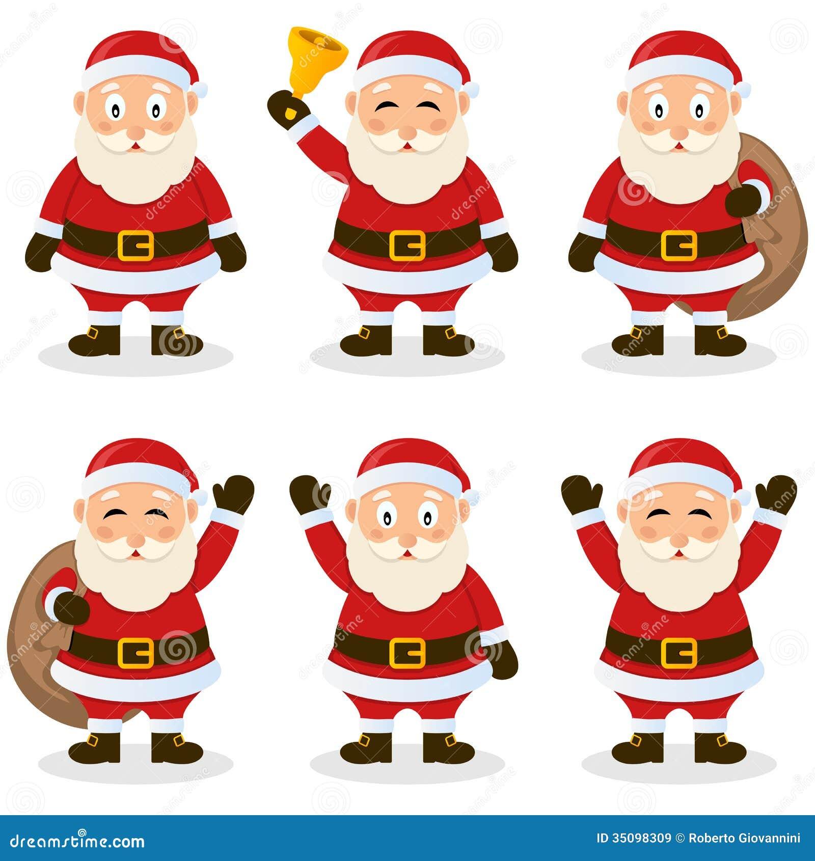Комплект рождества шаржа Санта Клауса