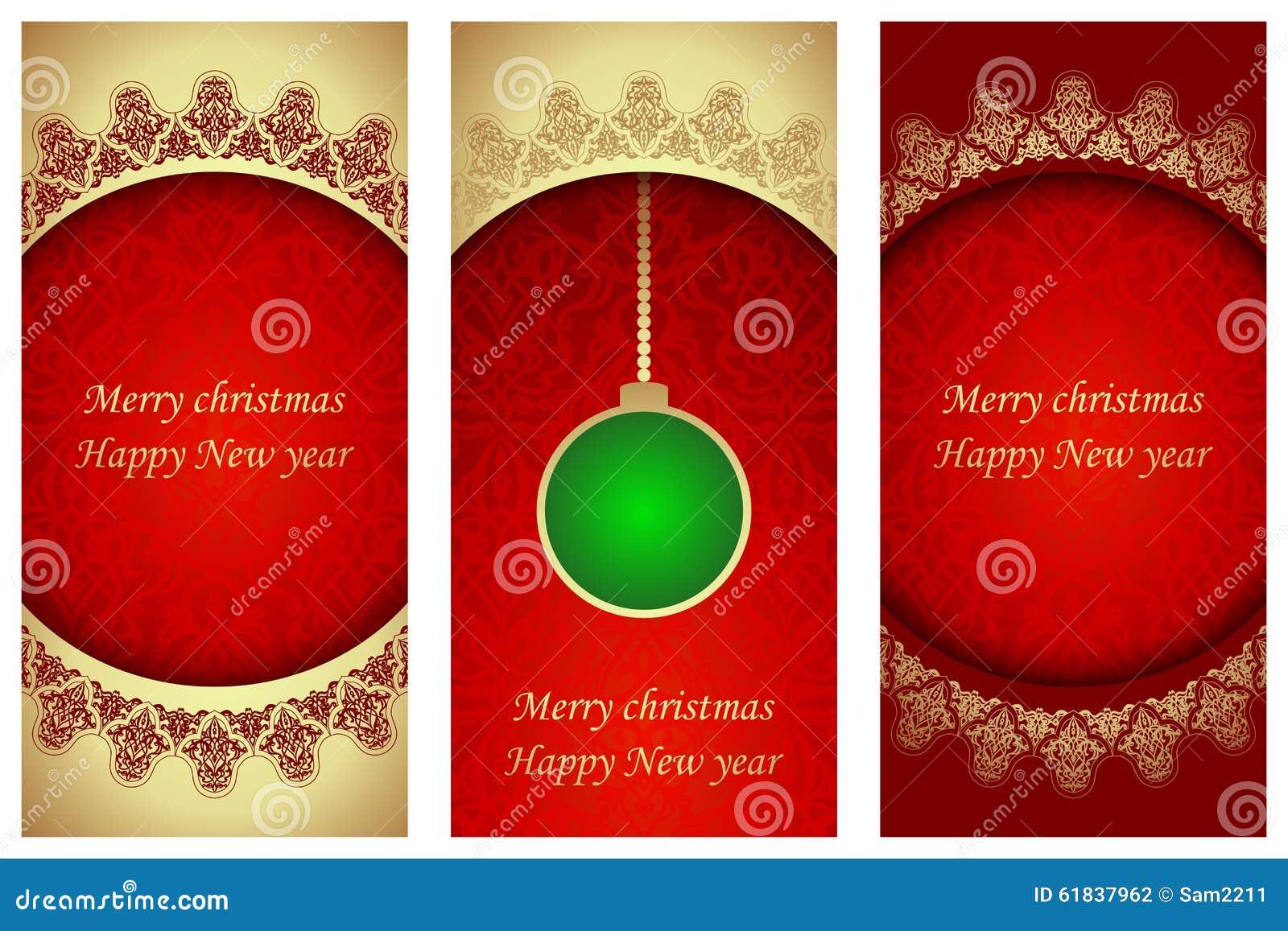 Комплект рождественских открыток в викторианском стиле