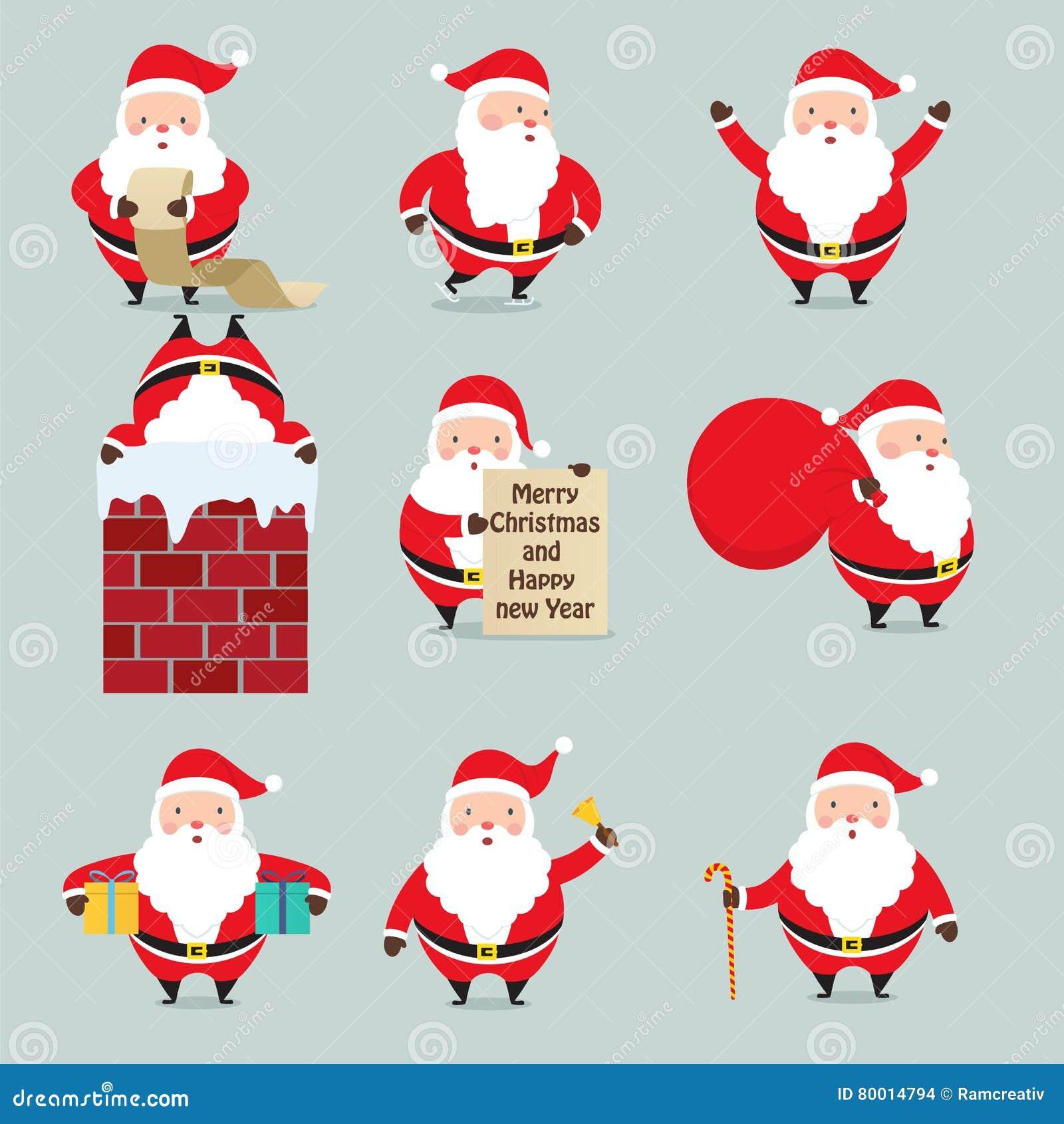 Комплект Санта Клауса на рождестве