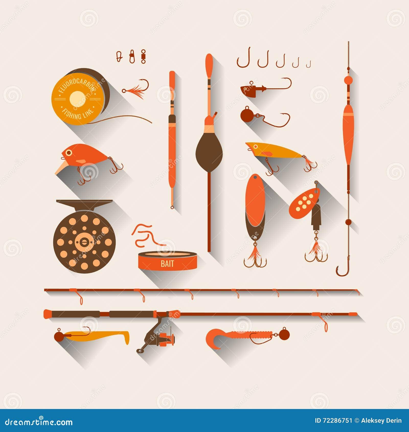 Download Комплект снасть большого обтекателя втулки рыболовства успешная Иллюстрация вектора - иллюстрации насчитывающей диаграмма, икона: 72286751