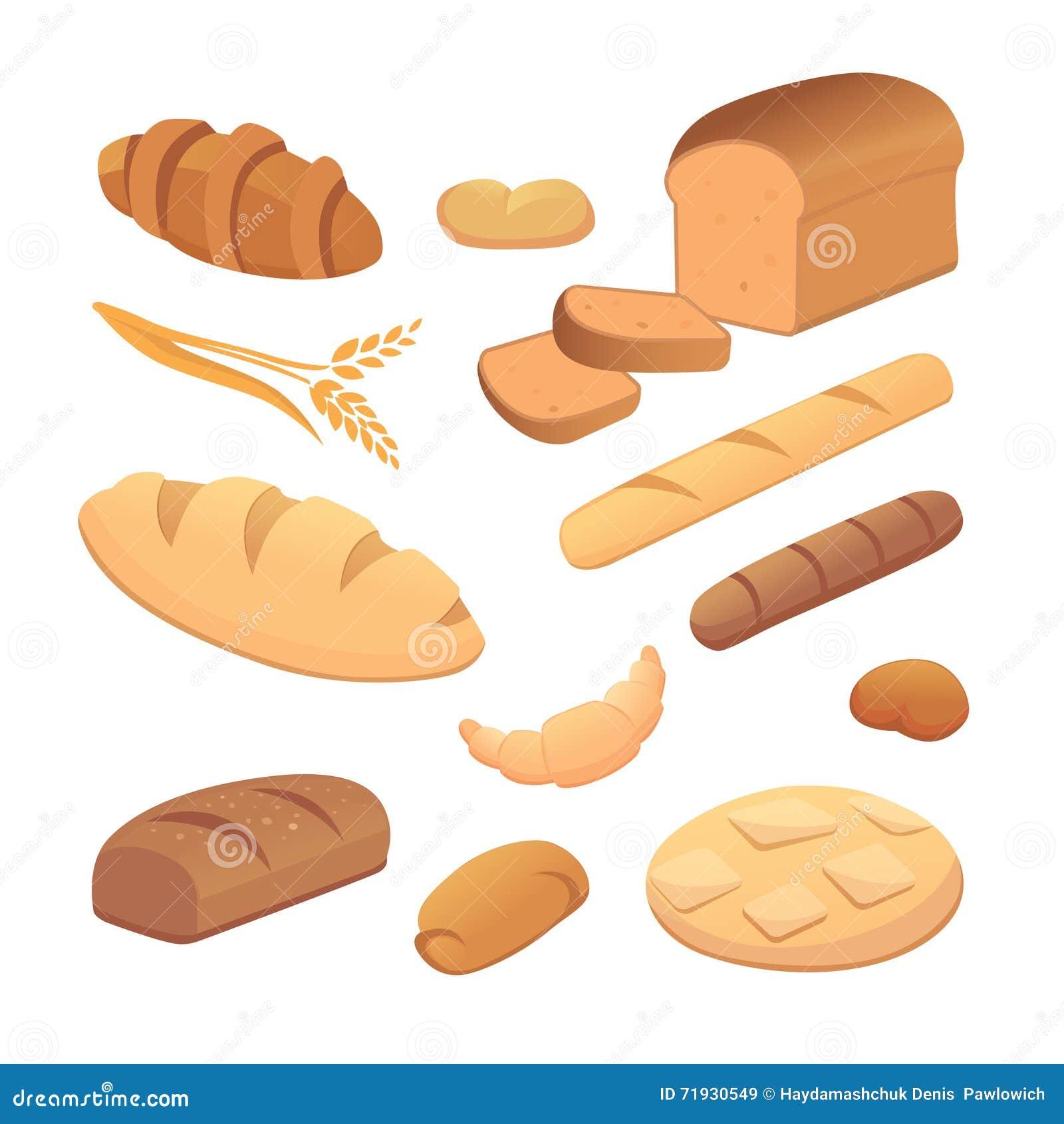 Комплект хлеба шаржа