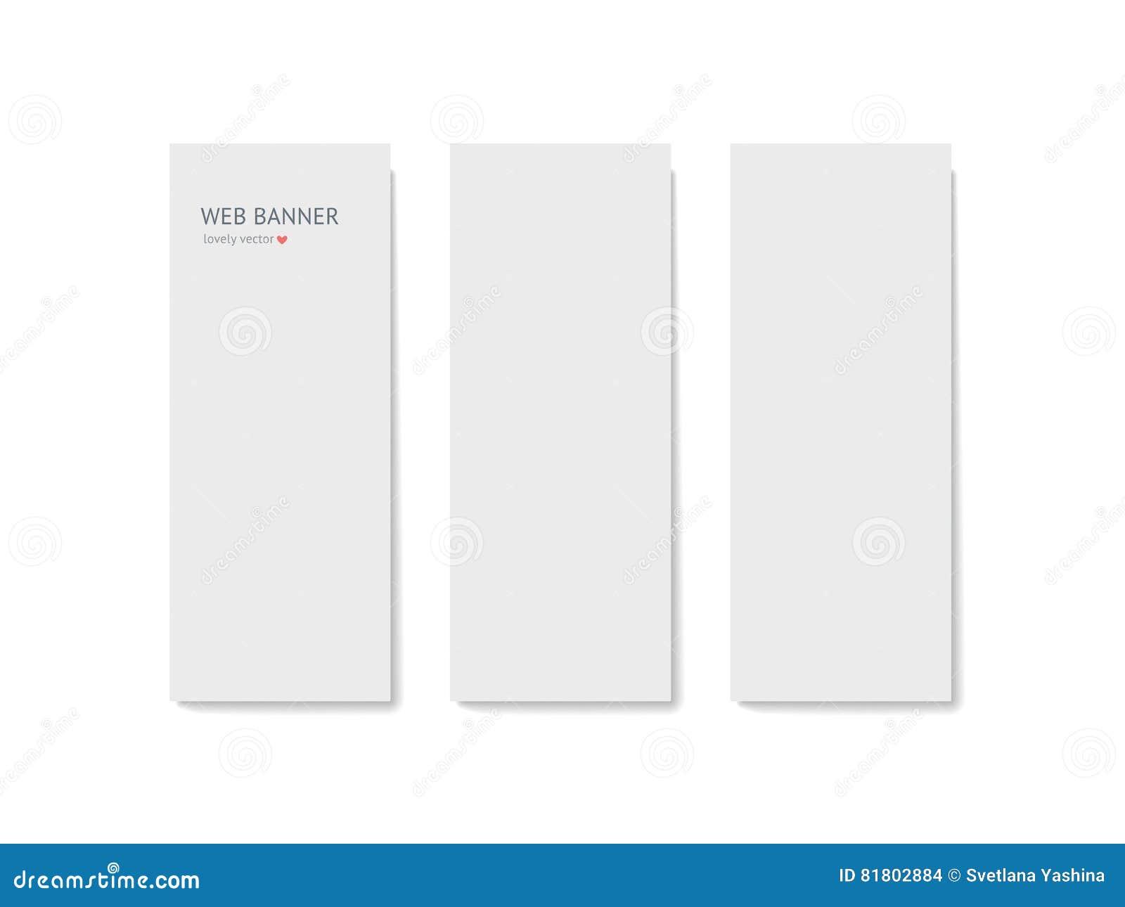 Комплект шаблона иллюстрации вектора вертикального знамени сети
