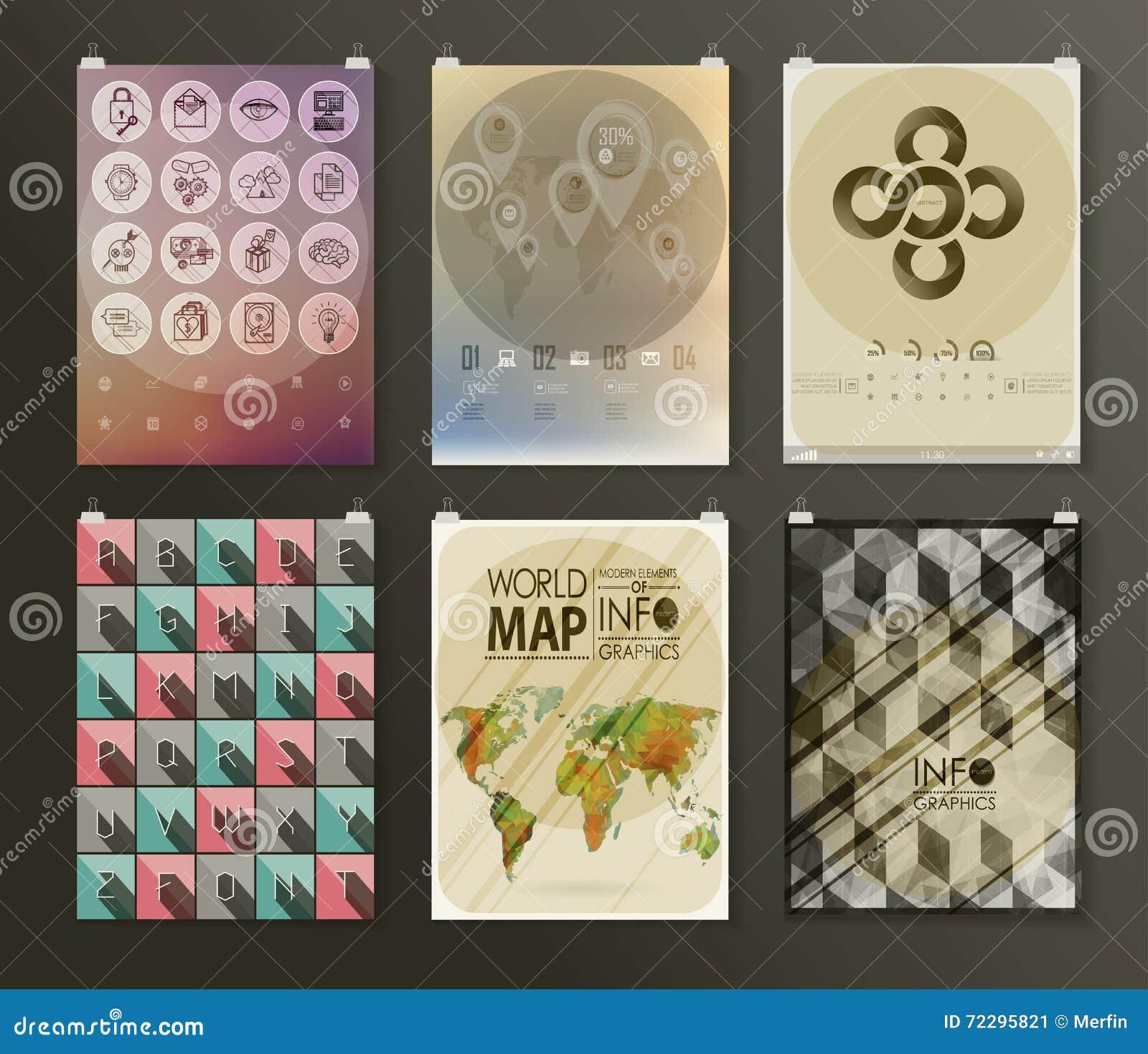 Download Комплект шаблонов дизайна рогульки плаката Иллюстрация вектора - иллюстрации насчитывающей корпоративно, дело: 72295821