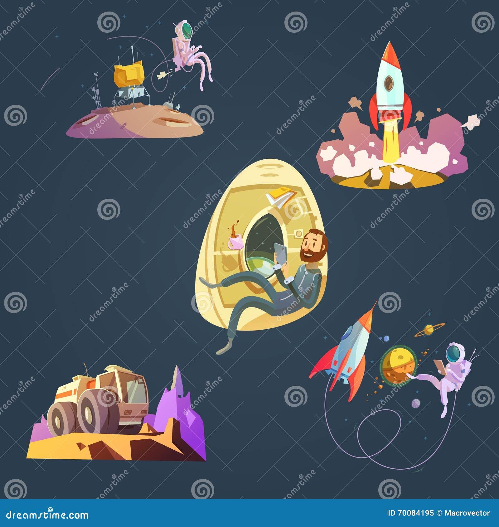 Комплект шаржа космоса