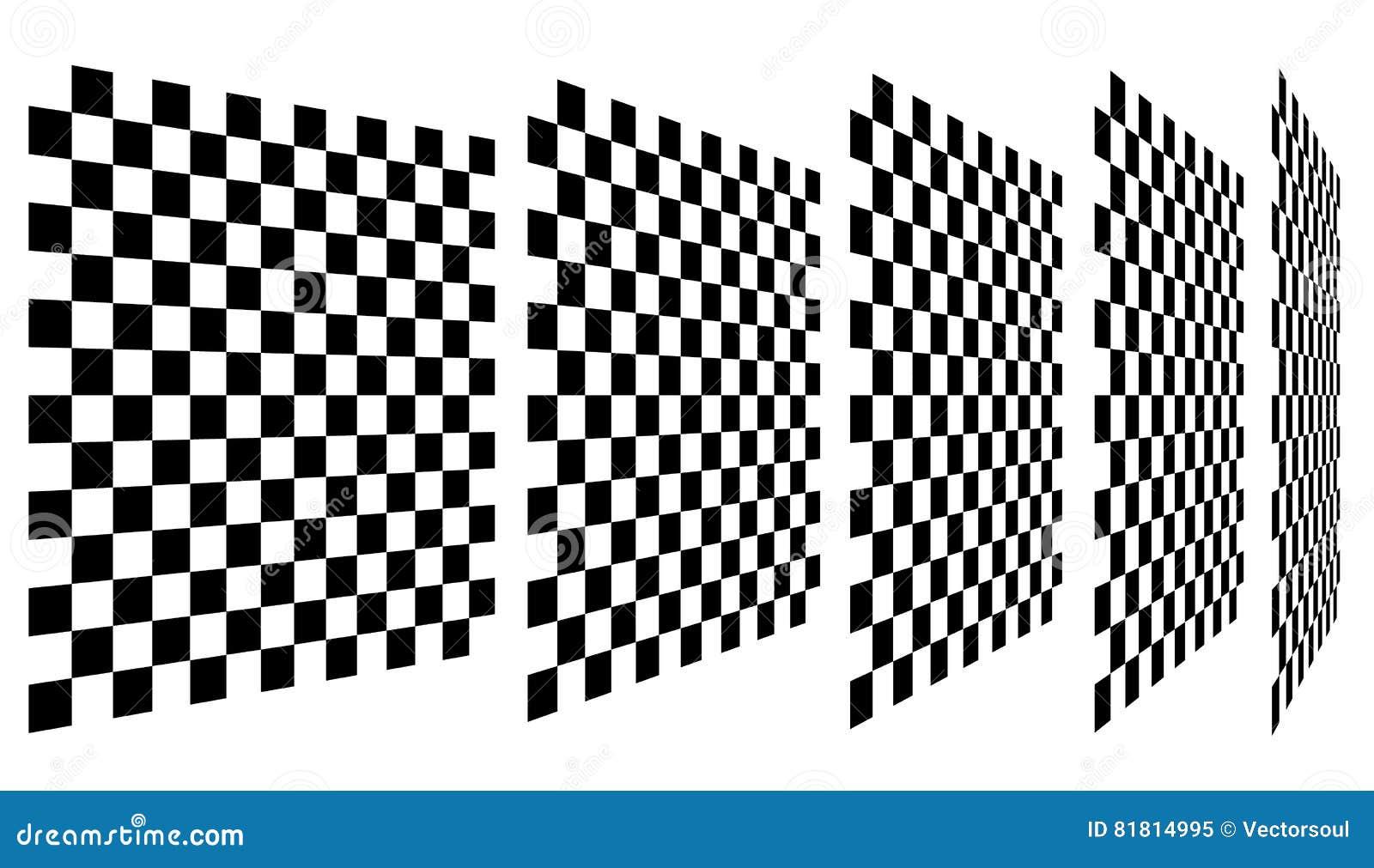 Комплект шахмат, checkered доск в перспективе