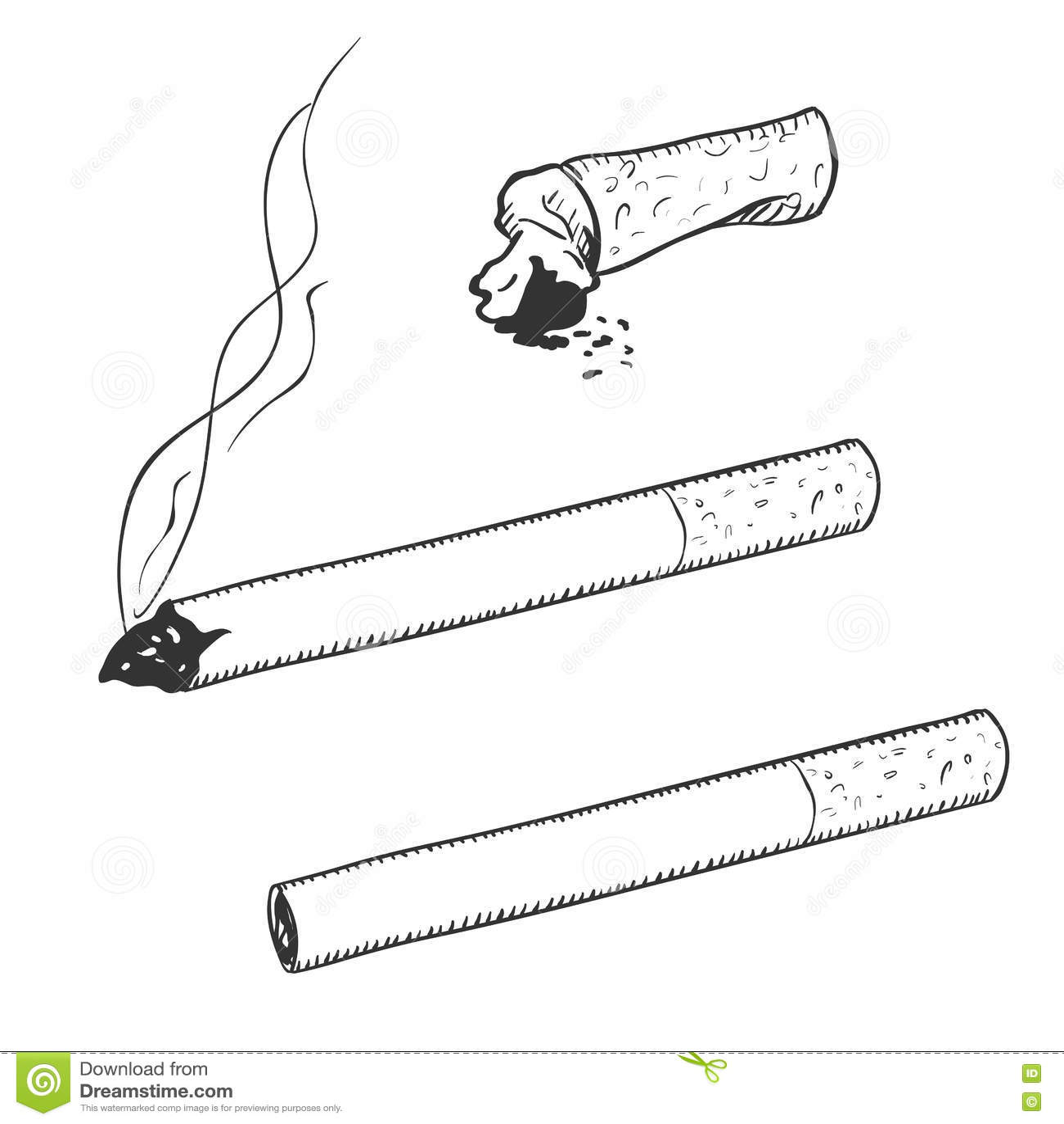 Рисунок сигареты раскраска