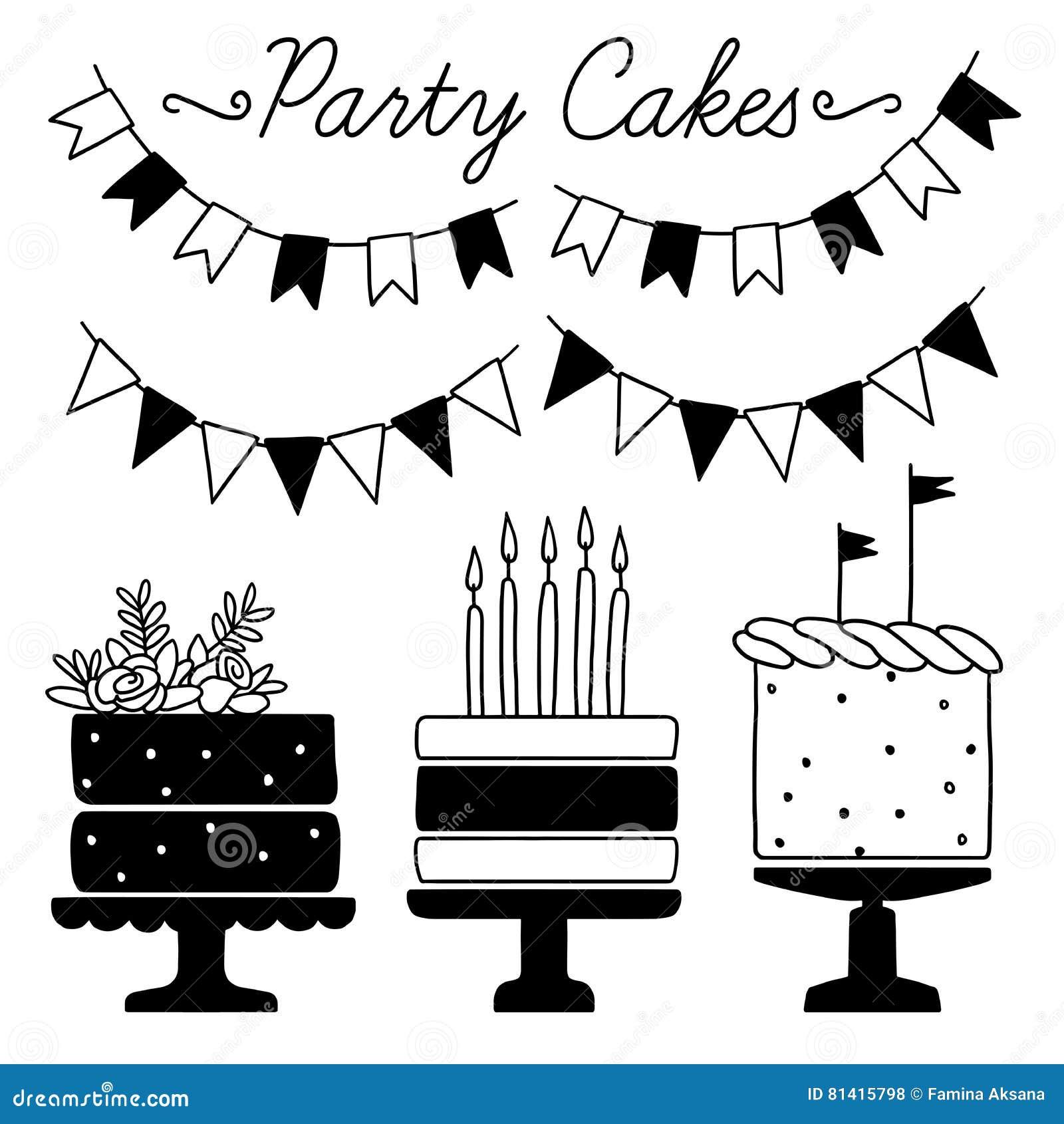 Картинки, приглашения на день рождения для девочек черно белые