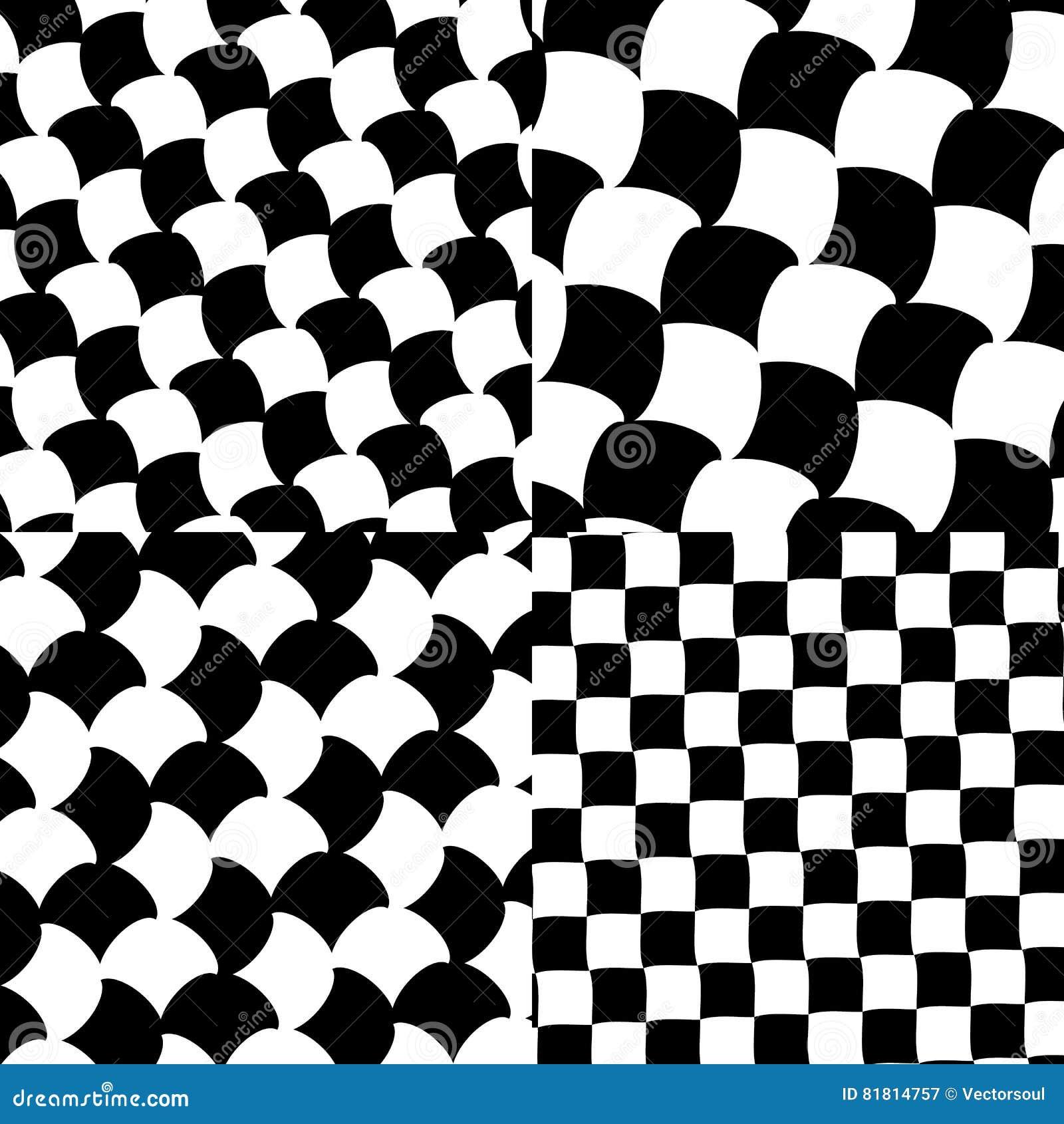 Комплект checkered/черно-белых картин