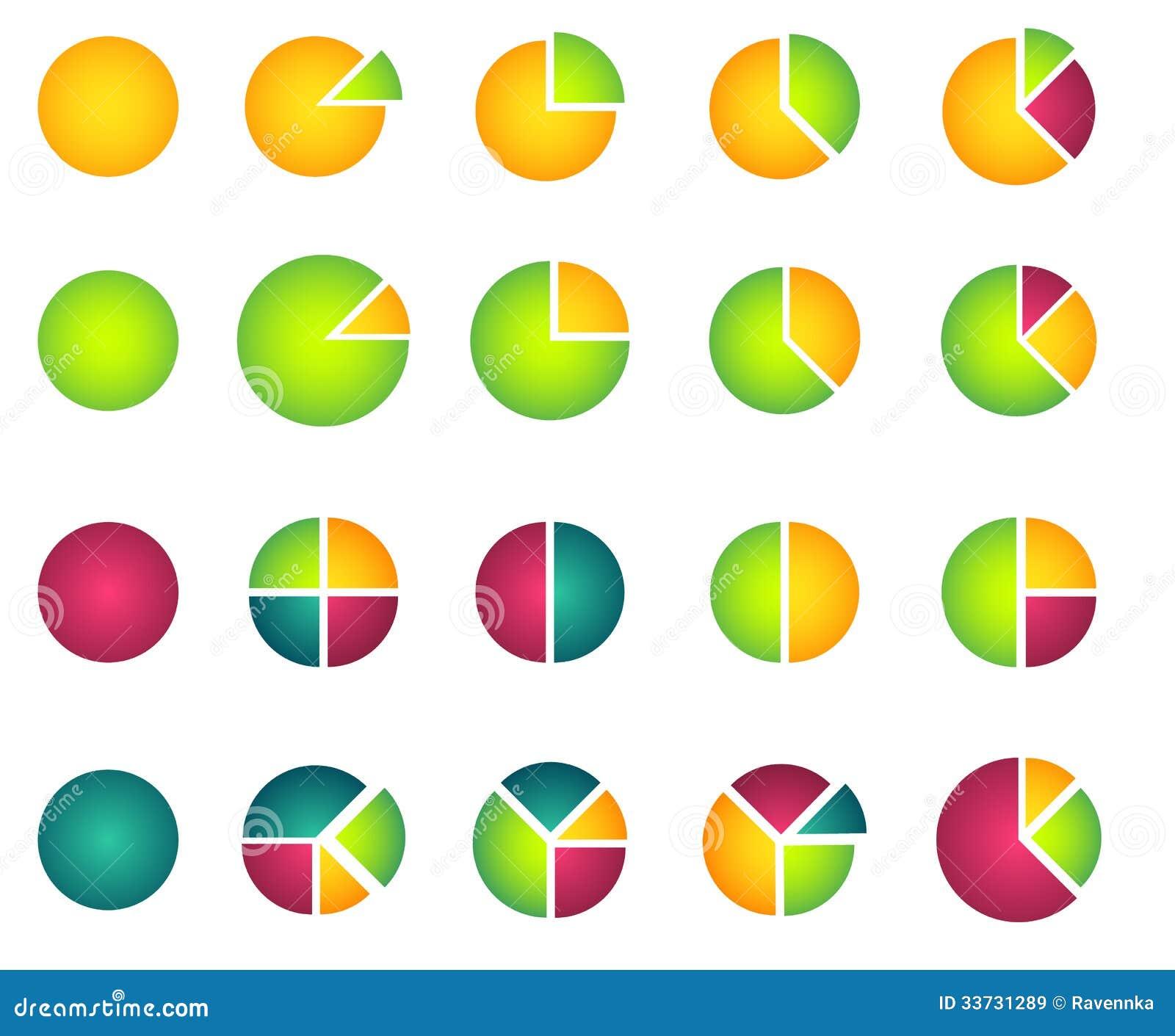 Комплект 2D диаграмм пирога