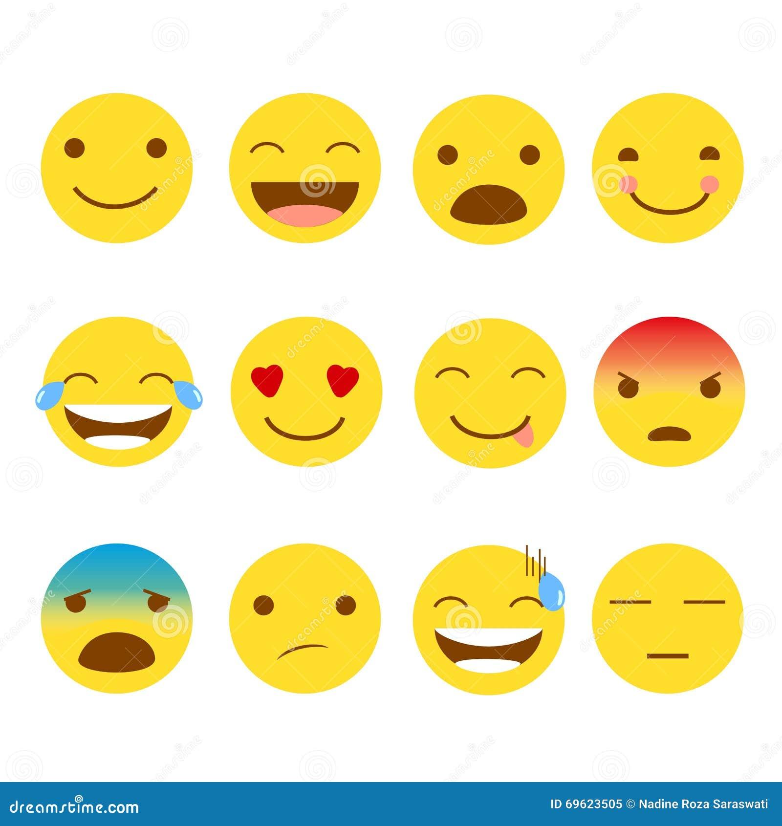 комплект 12 emojis