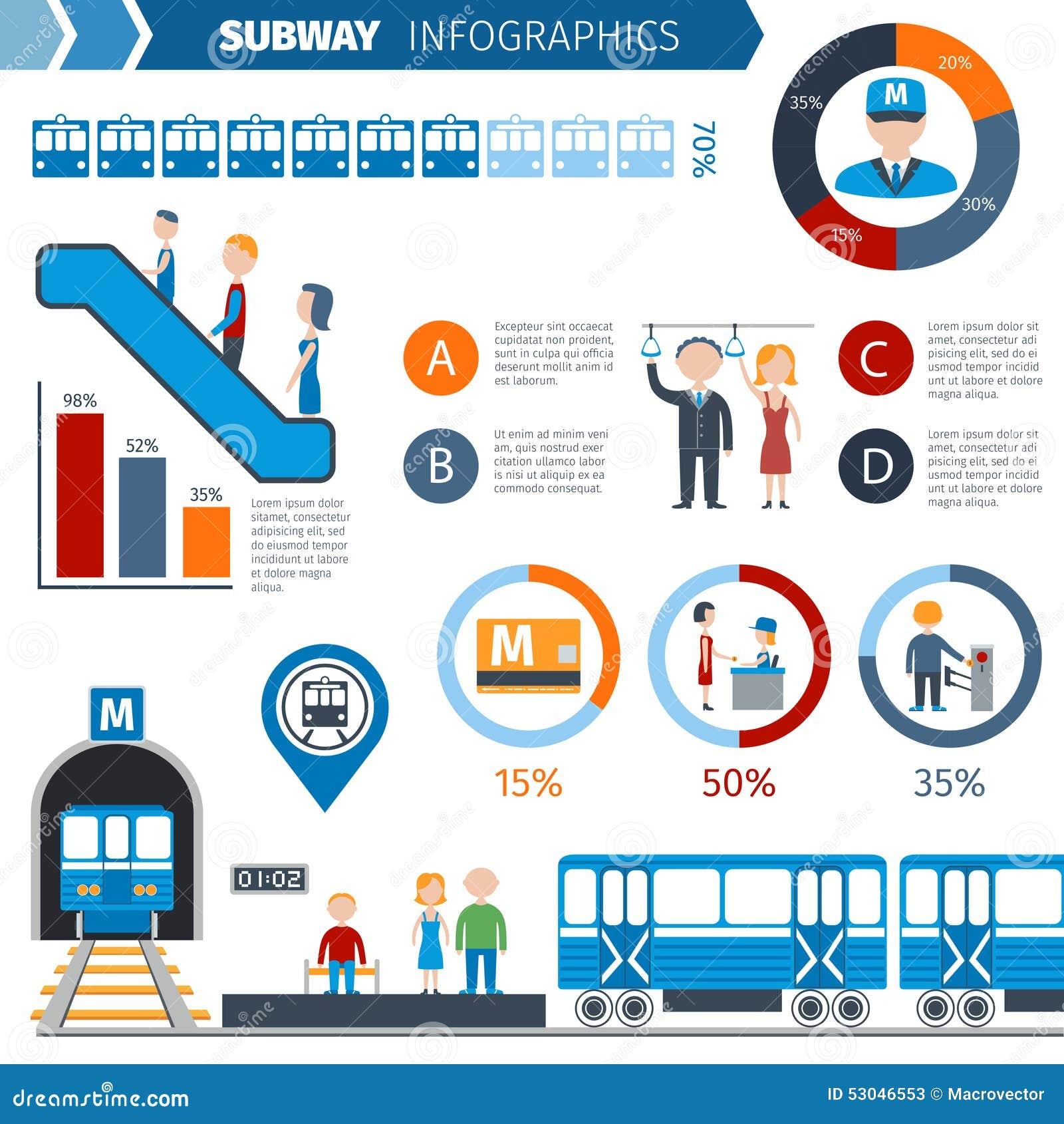 Комплект Infographics метро