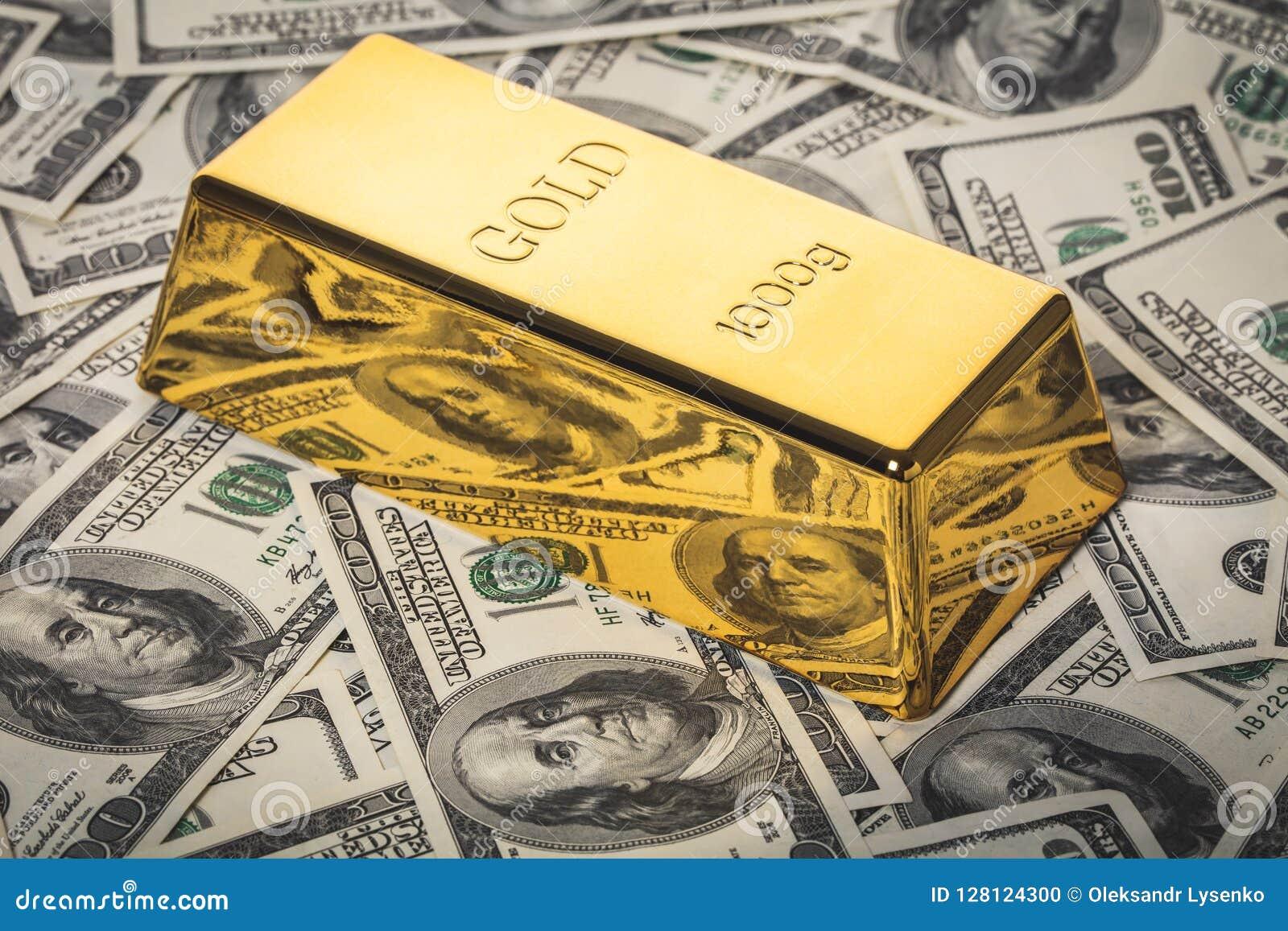 Конец-вверх бара золота