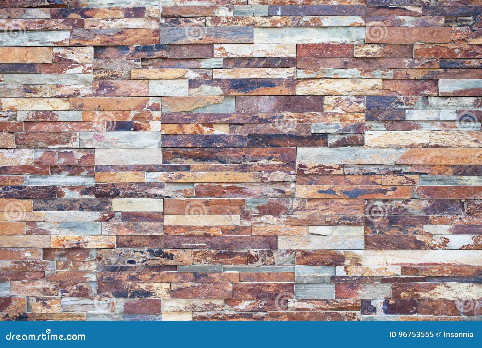 Конец-вверх ржавого камня Каменная облицовка для оформления внешней стены
