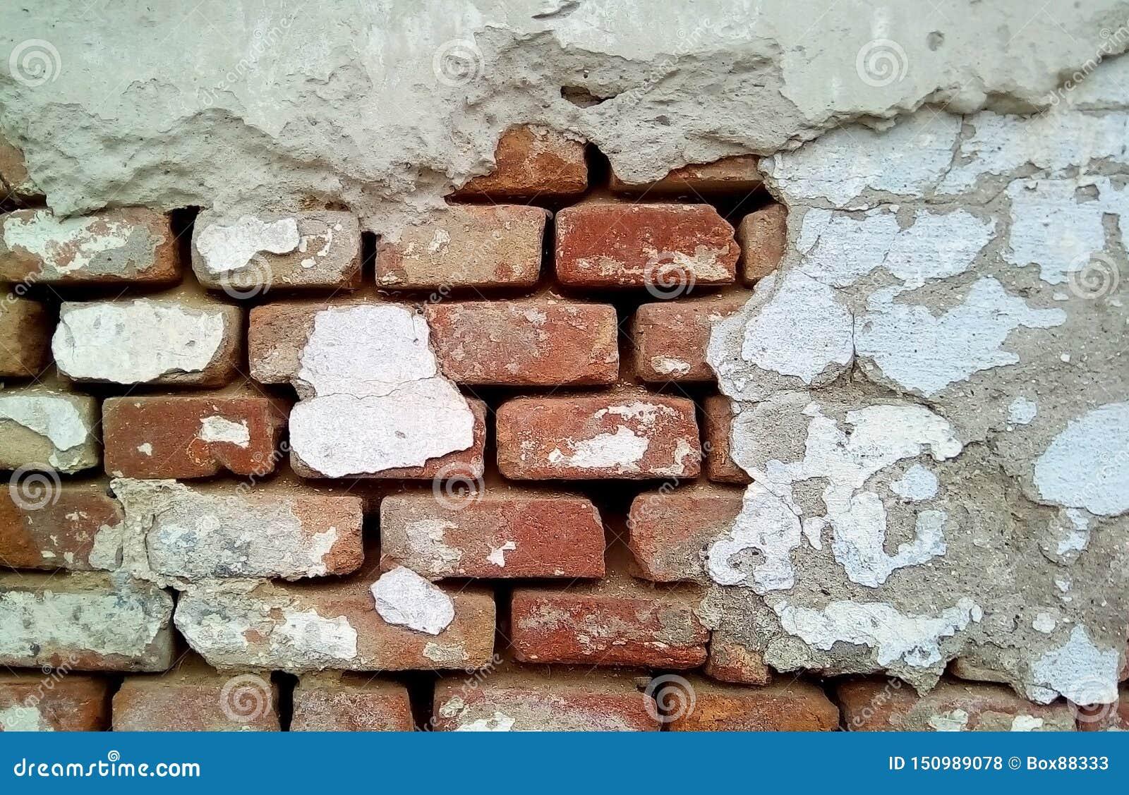 Конец-вверх части кирпичной стены