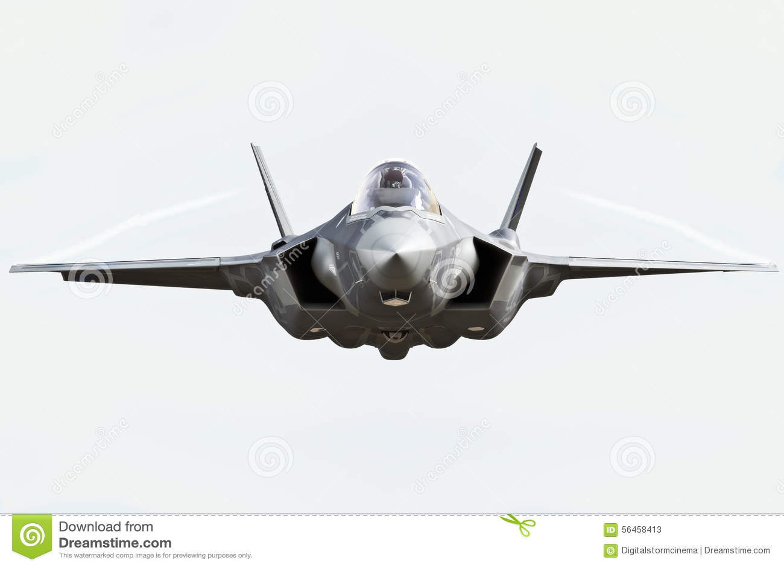 Конец вид спереди F35 вверх