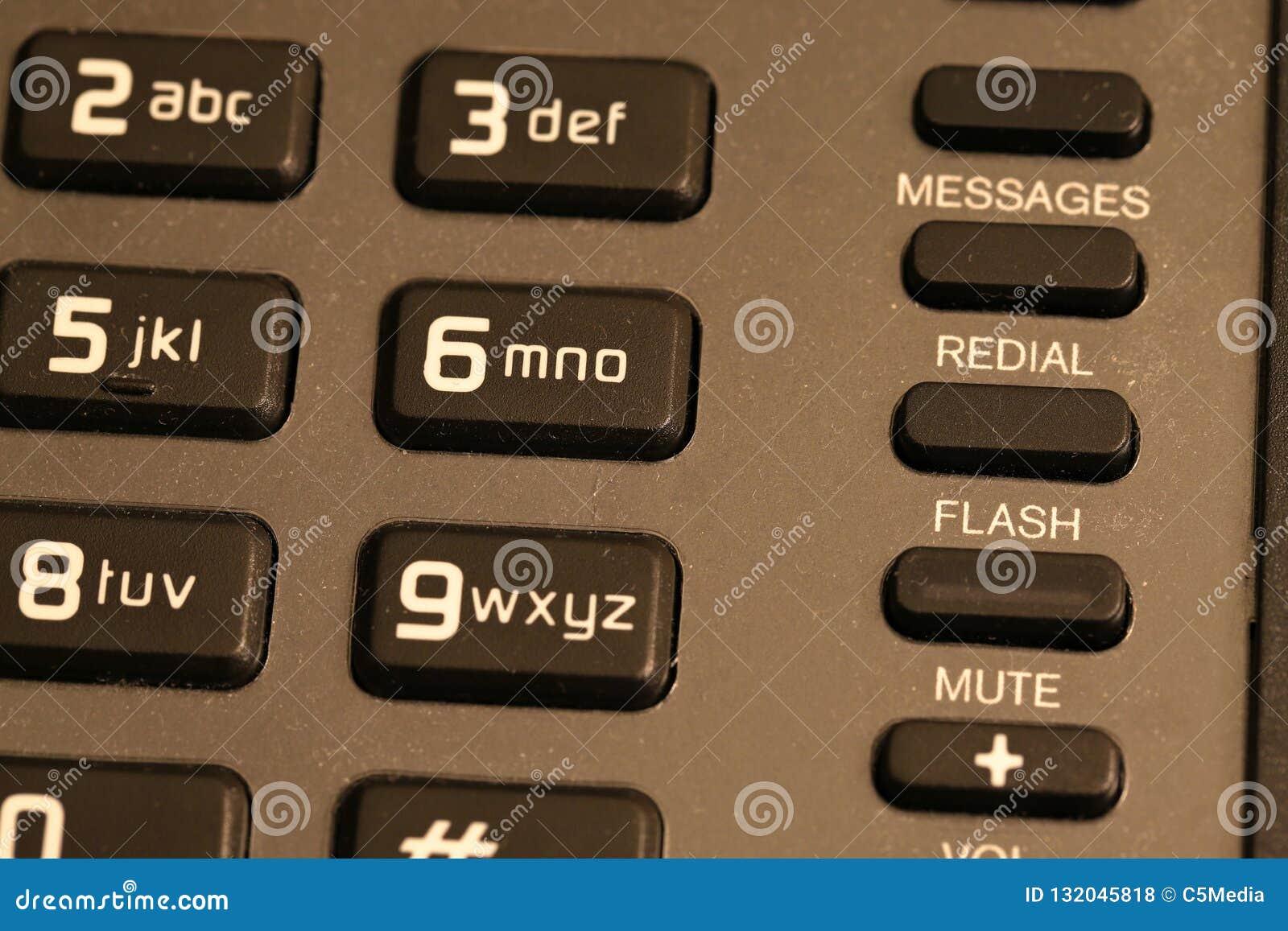 Конец кнопочной панели телефона гостиницы вверх