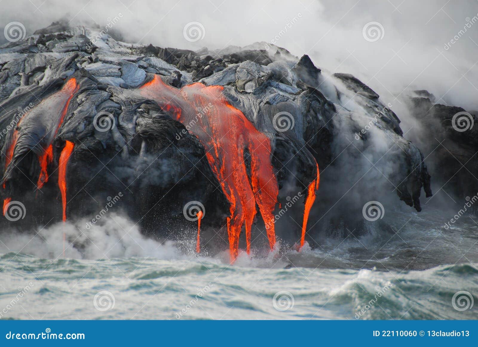 конец пропускает пар океана лавы множественный вверх