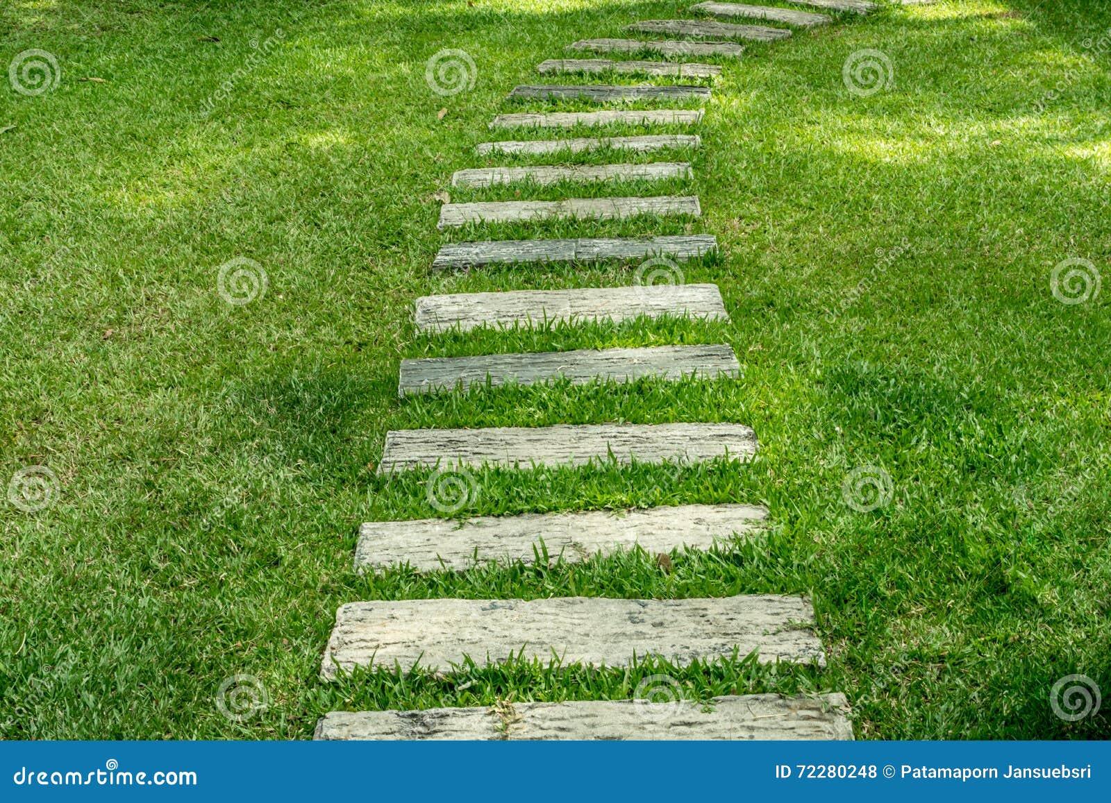 Download Конкретная тропа в саде стоковое фото. изображение насчитывающей footpath - 72280248