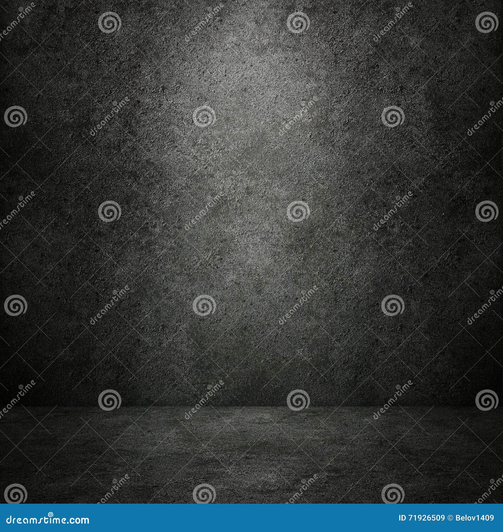Конкретные темные стена и пол