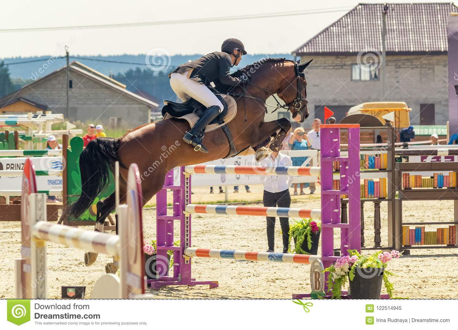 Конкуренции международной лошади скача, Россия, Екатеринбург, 28 07 2018