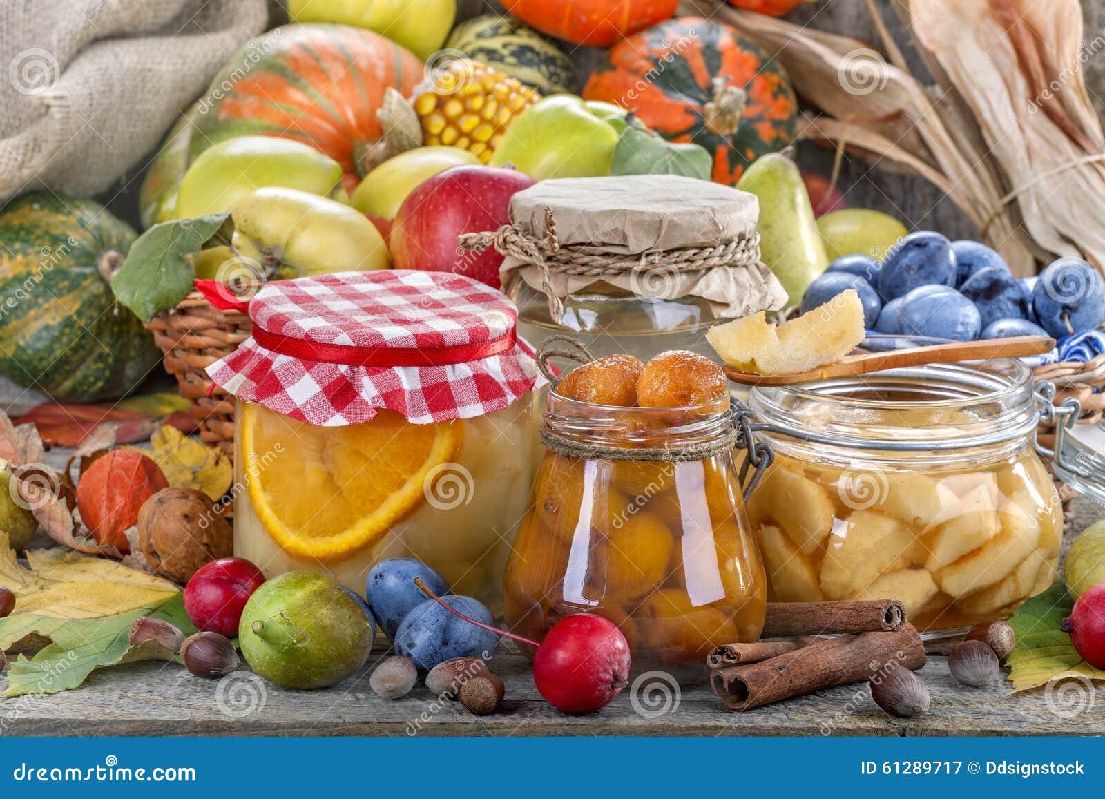 Консервация еды осени