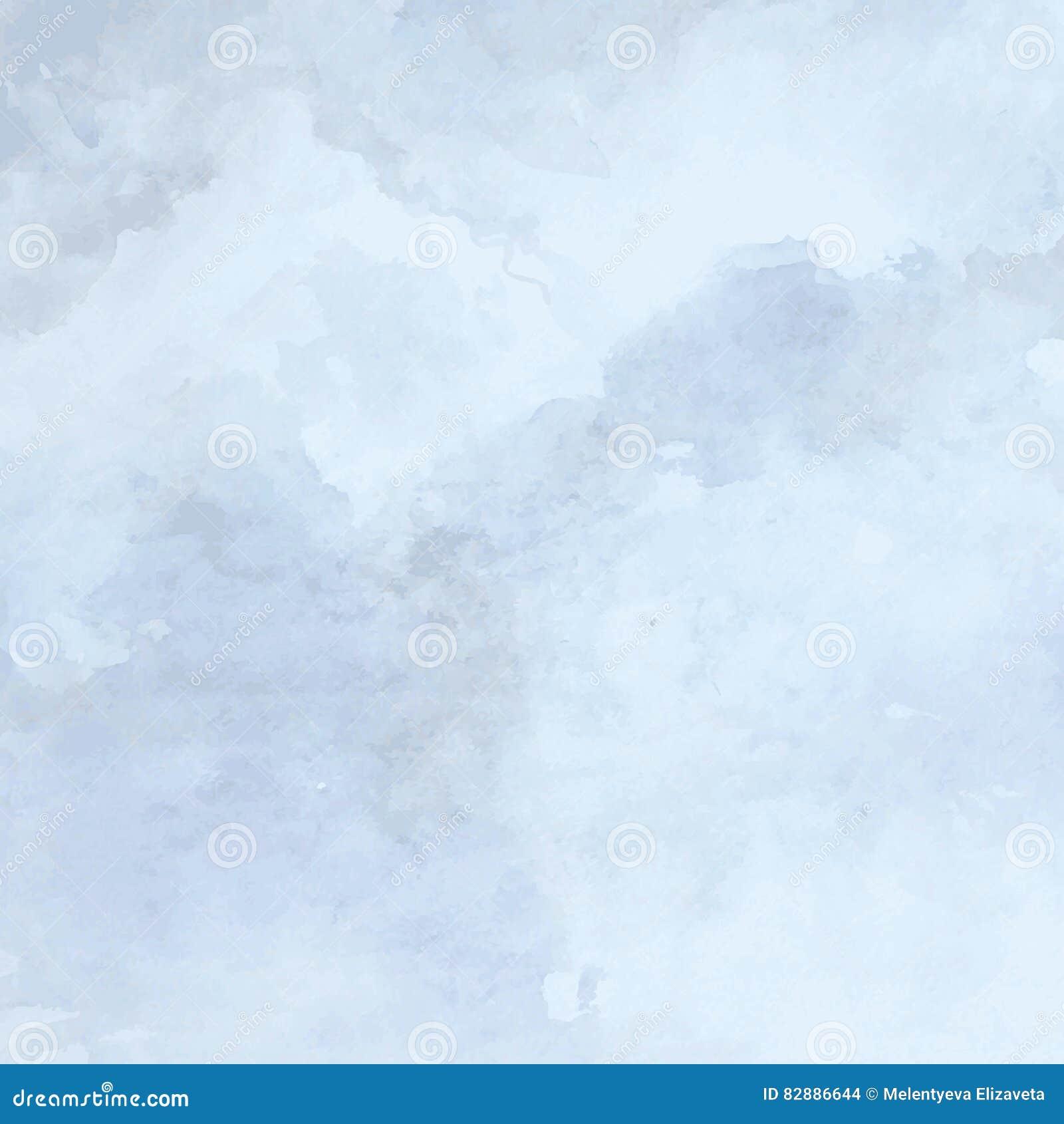 Конструированная текстура бумаги grunge, предпосылка вектора акварели голубая художническая абстрактная, рука нарисованный стиль