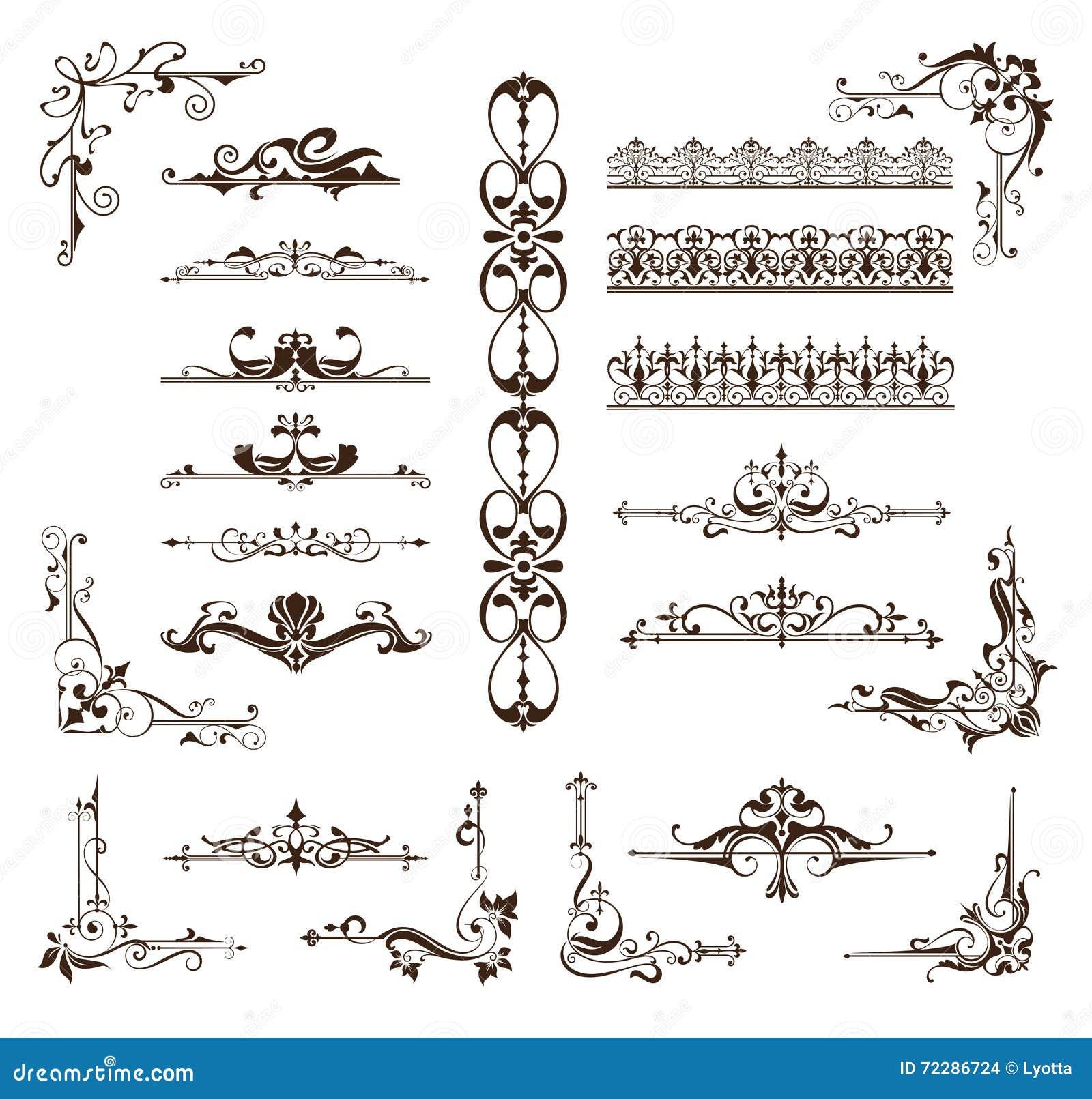 Download Конструируйте границы орнаментов года сбора винограда, рамки, углы Иллюстрация вектора - иллюстрации насчитывающей мандала, конструкция: 72286724