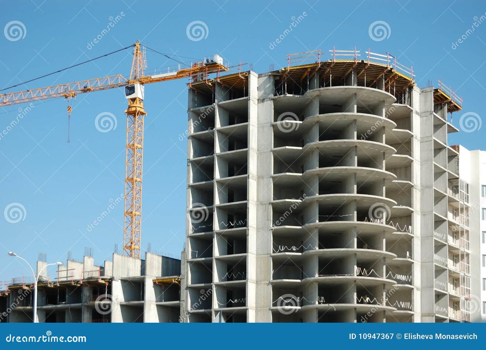 конструкция здания вниз